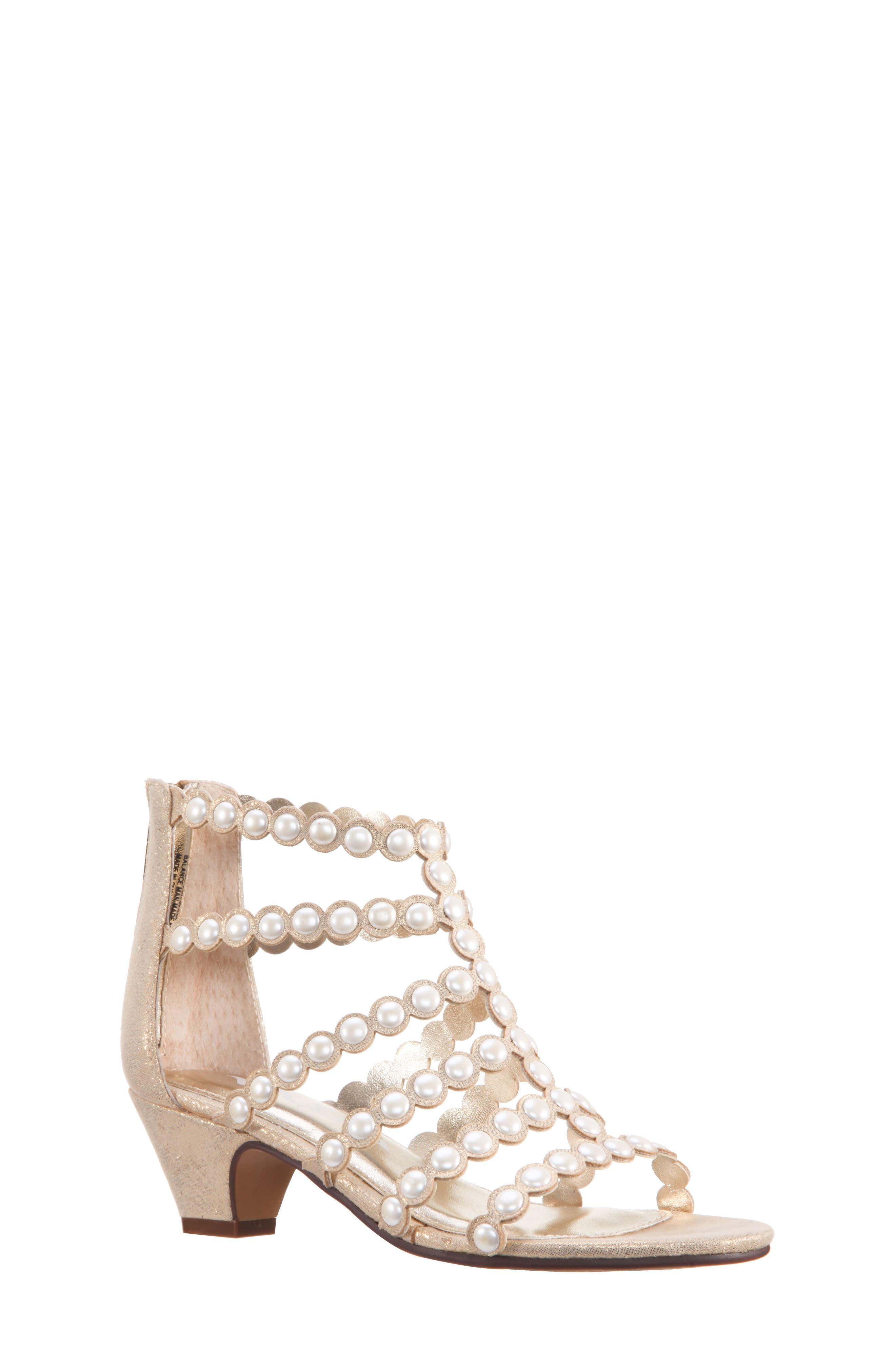 Princess-P Shimmer Sandal,                             Main thumbnail 3, color,