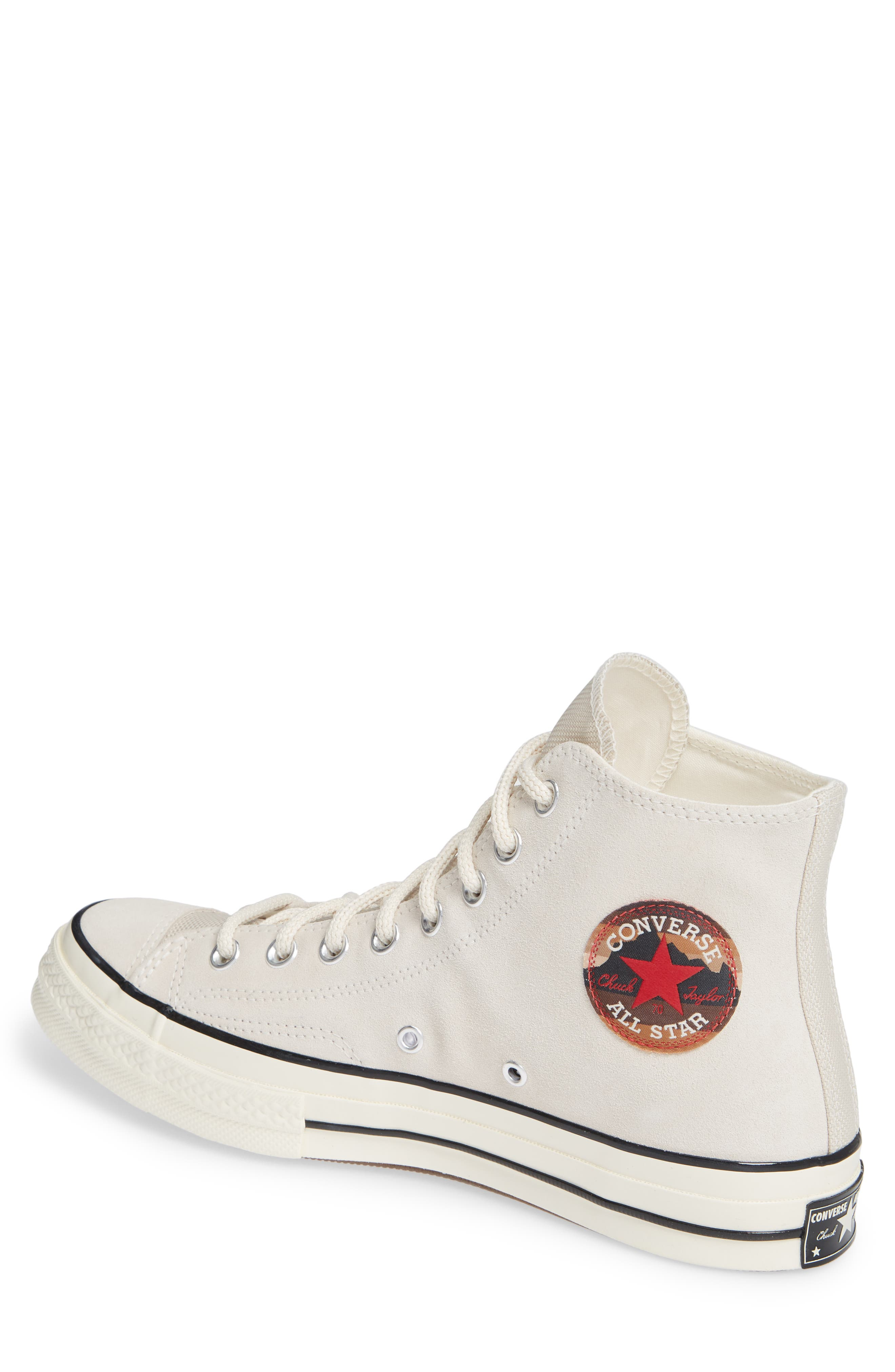 Chuck Taylor<sup>®</sup> All Star<sup>®</sup> 70 Base Camp High Top Sneaker,                             Alternate thumbnail 2, color,                             NATURAL IVORY/BLACK