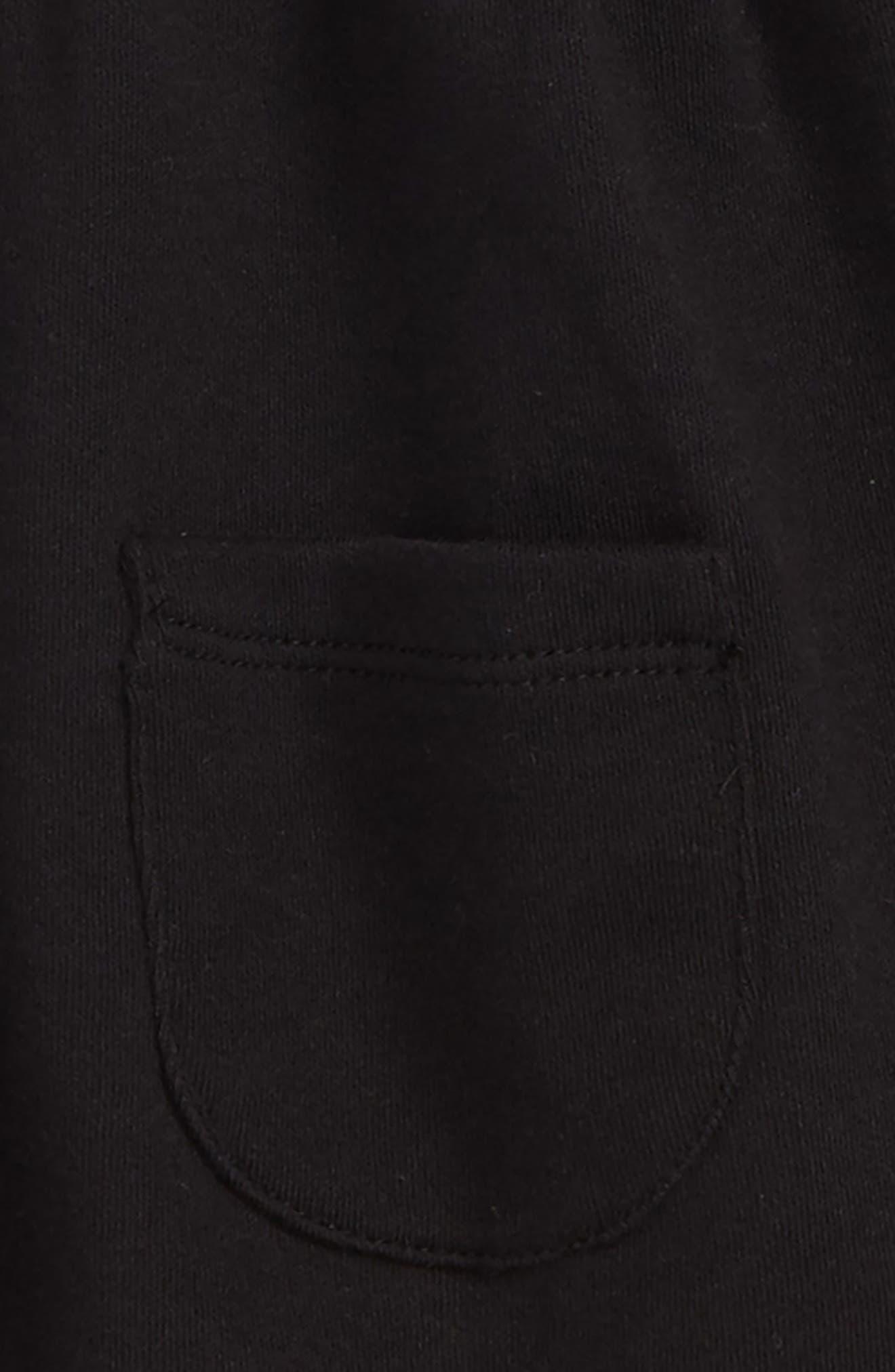NORDSTROM BABY,                             Pocket Dress & Leggings Set,                             Alternate thumbnail 2, color,                             BLACK