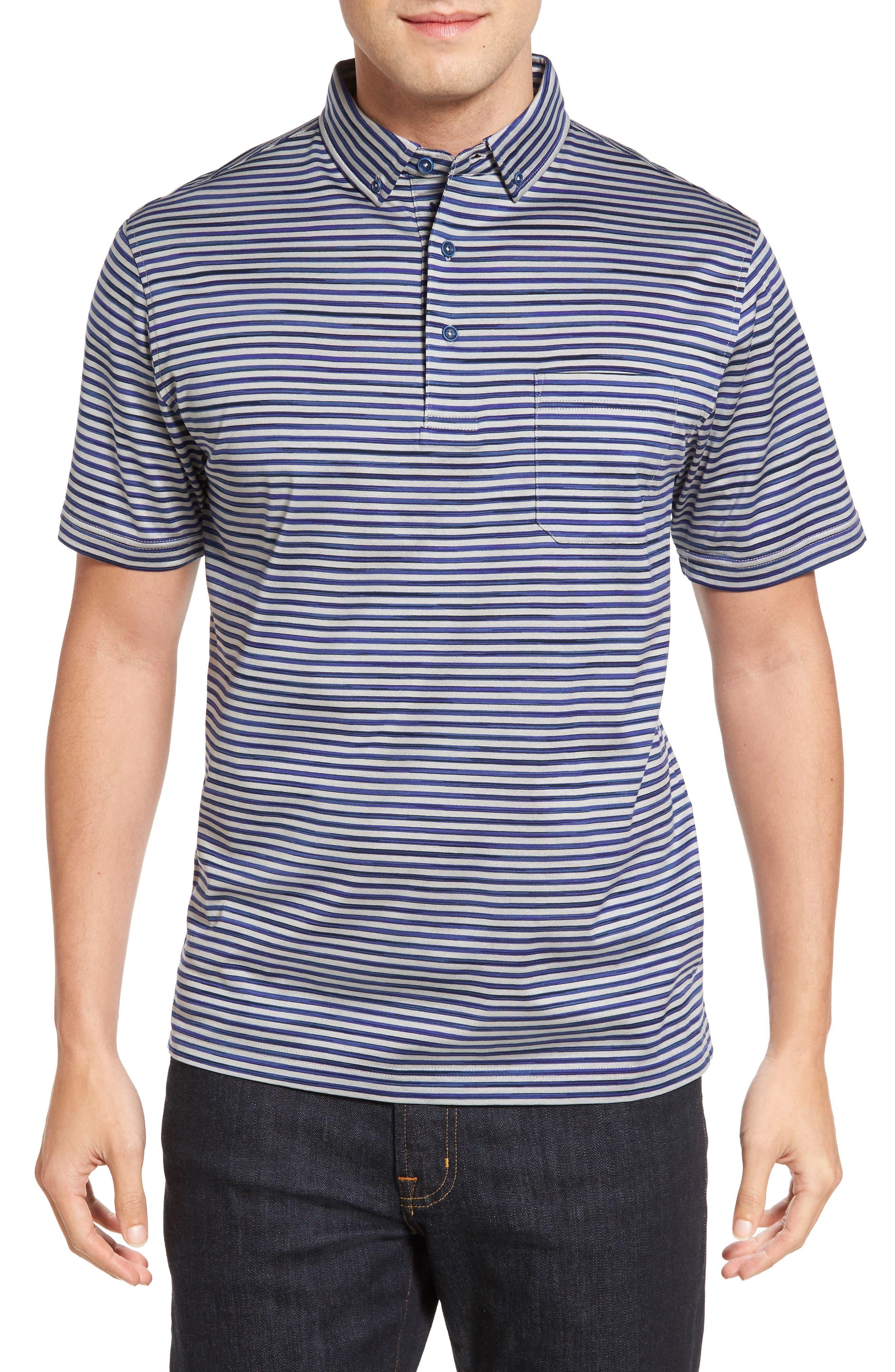 Stripe Jersey Polo,                             Main thumbnail 1, color,                             020