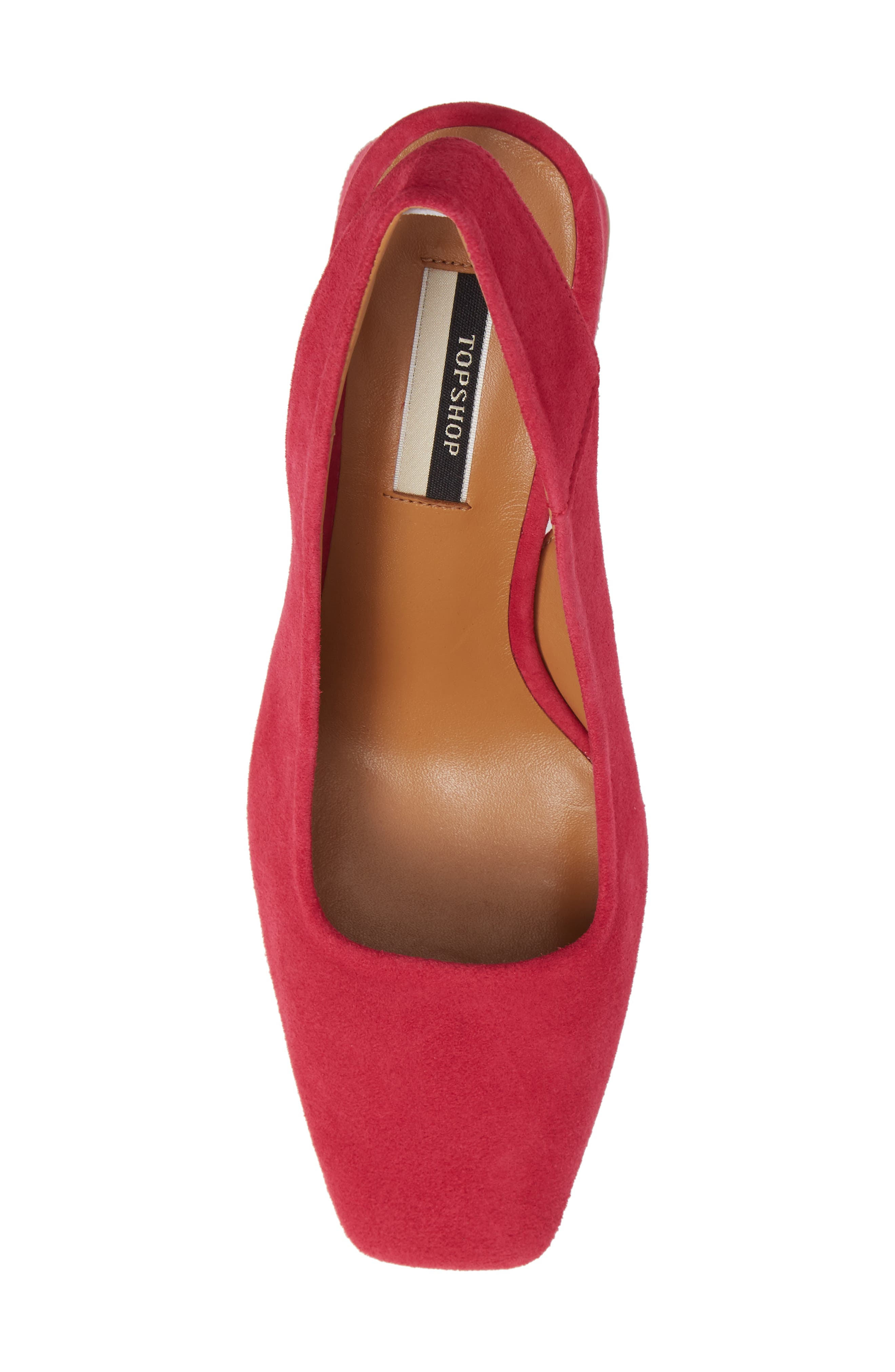Gainor Block Heel Slingback Pump,                             Alternate thumbnail 5, color,                             PINK