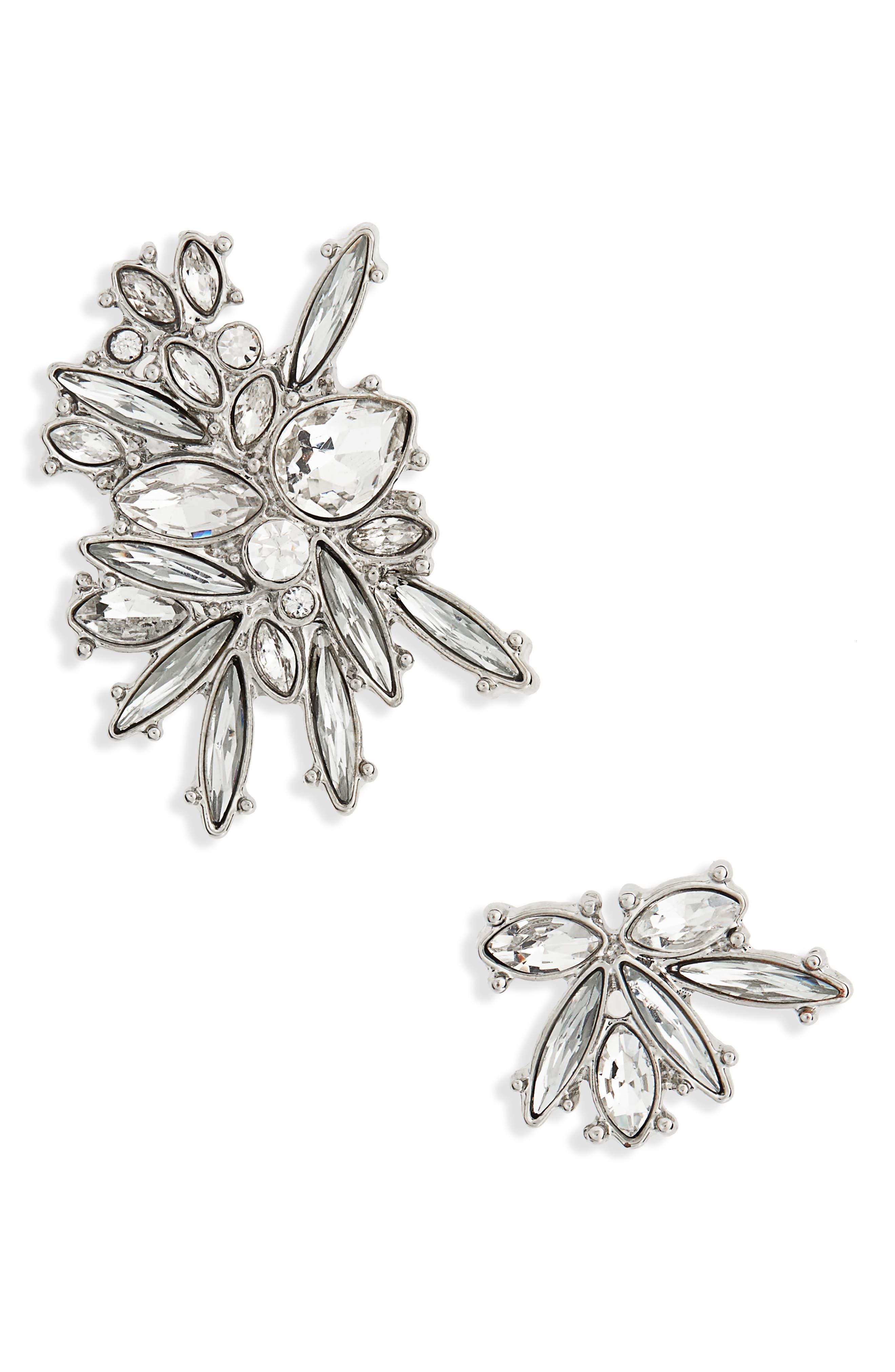 Titania Crystal Stud Earrings,                             Main thumbnail 1, color,                             710