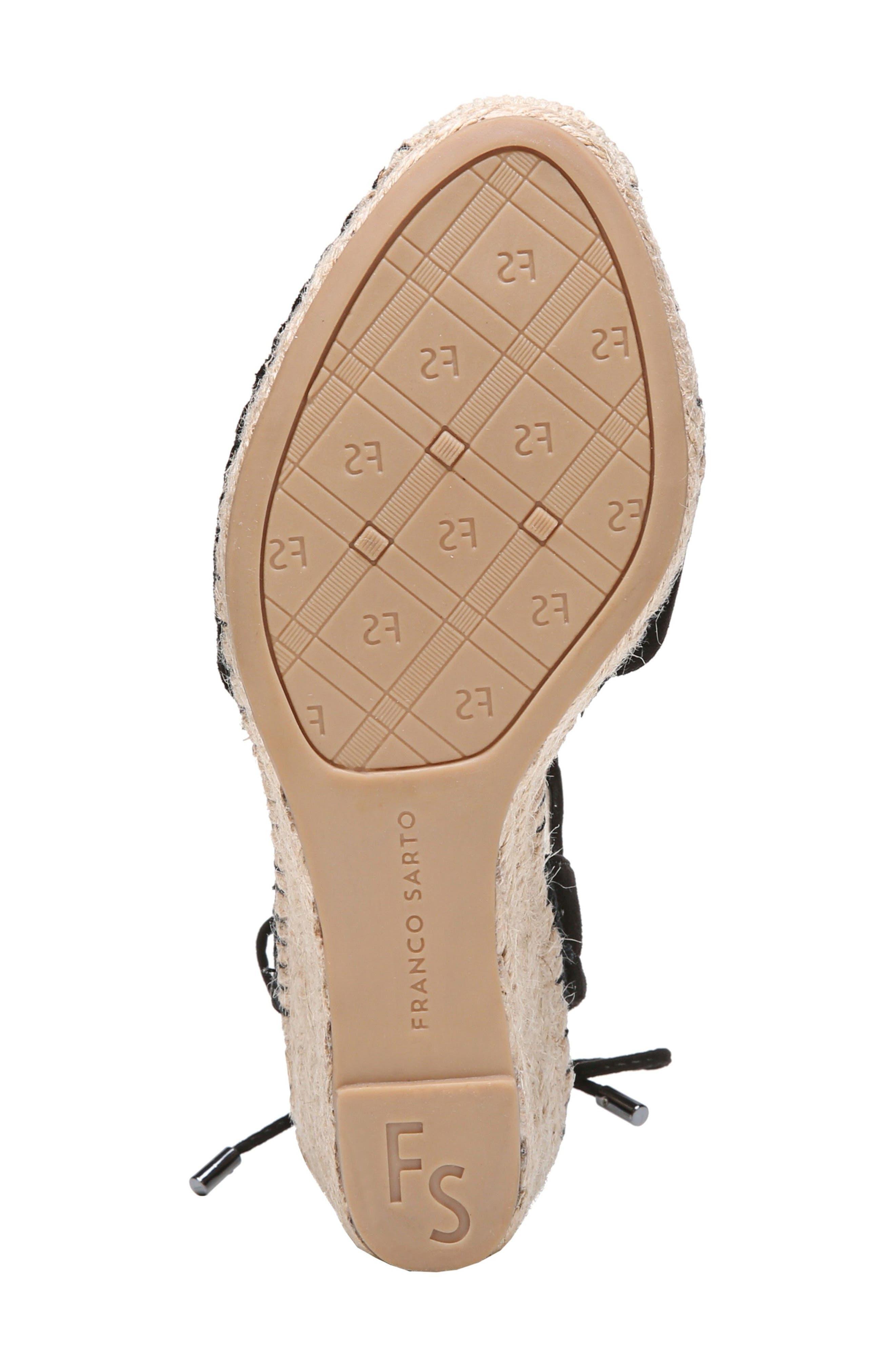 Mariska Espadrille Wedge Sandal,                             Alternate thumbnail 6, color,                             002