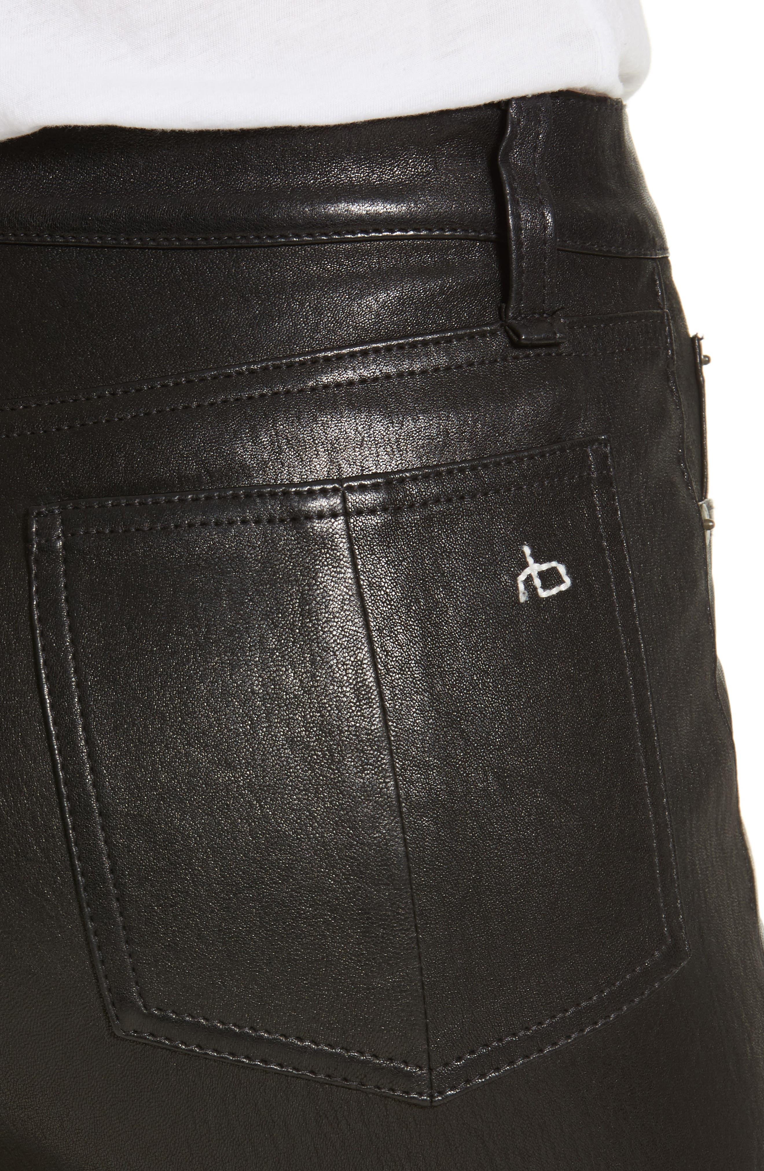 Lambskin Leather Pants,                             Alternate thumbnail 14, color,
