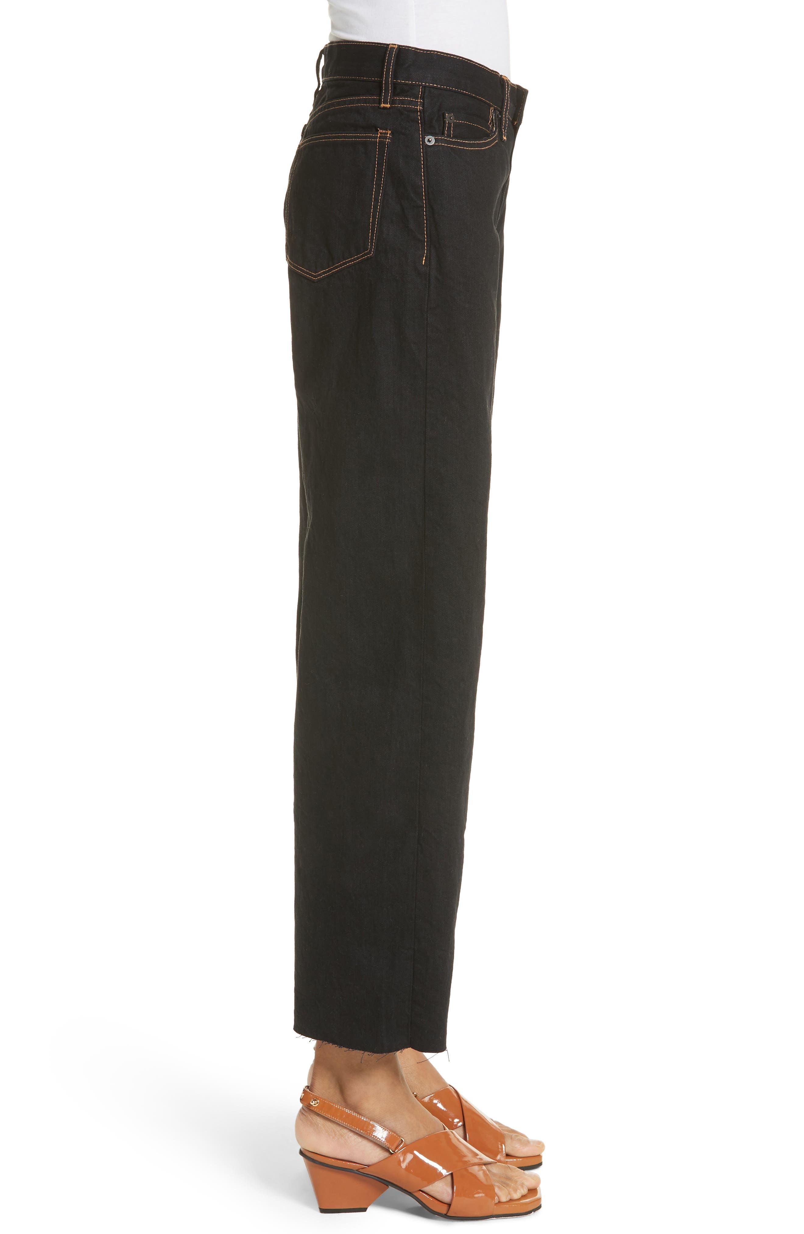 Dever Contrast Stitch Wide Leg Jeans,                             Alternate thumbnail 3, color,