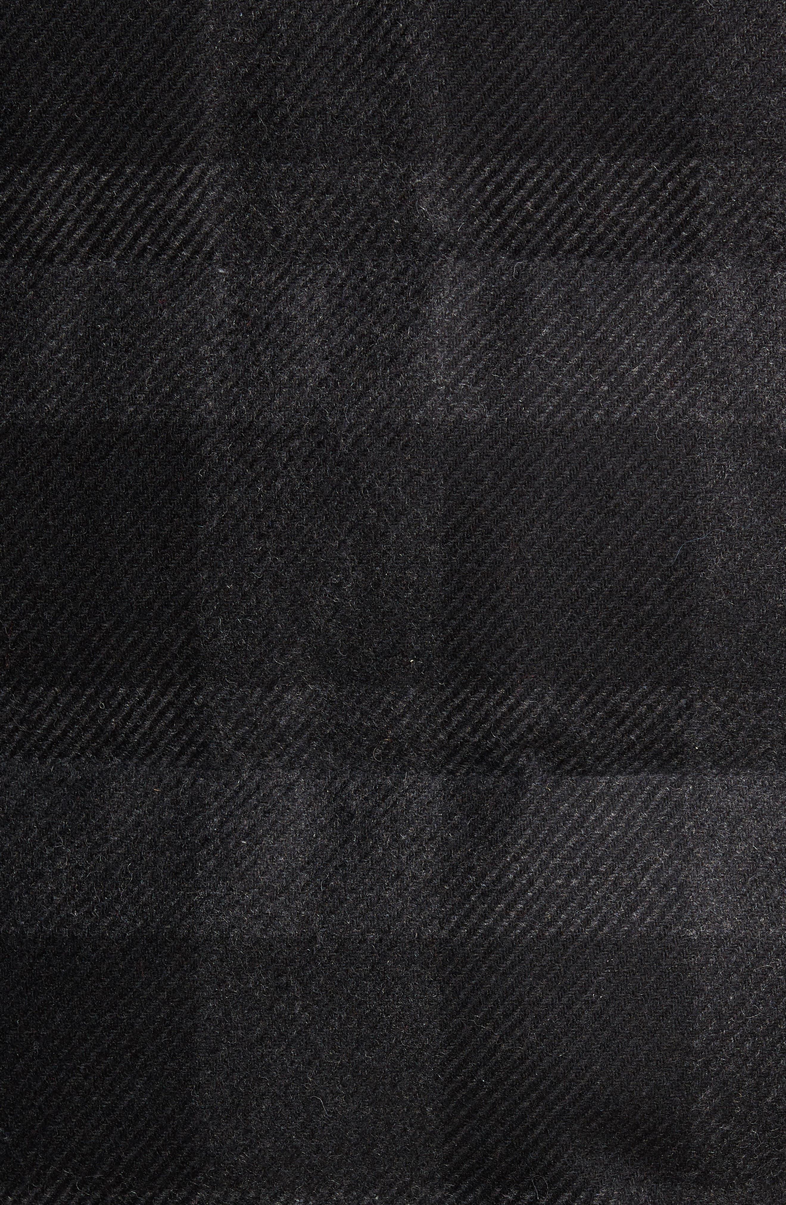 Crosby Plaid Wool Bib Puffer Jacket,                             Alternate thumbnail 7, color,                             CHARCOAL/ BLACK PLAID
