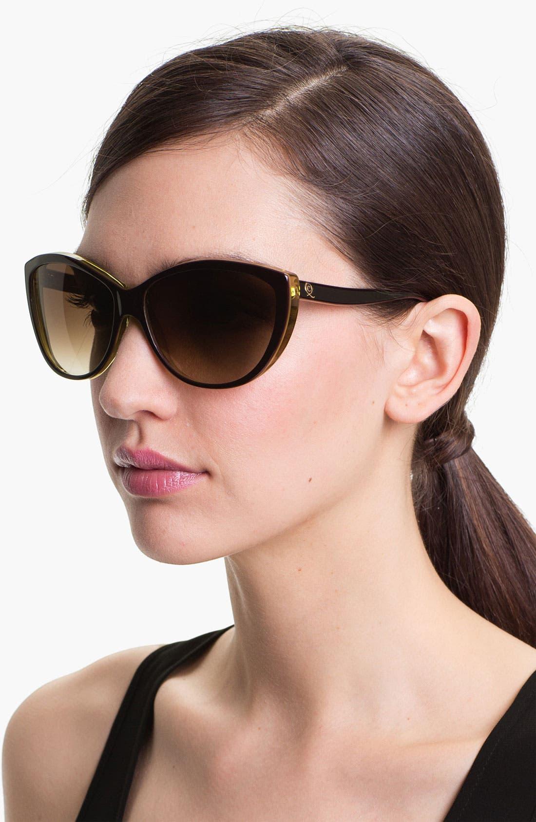 61mm Two-Tone Cat Eye Sunglasses,                             Main thumbnail 7, color,