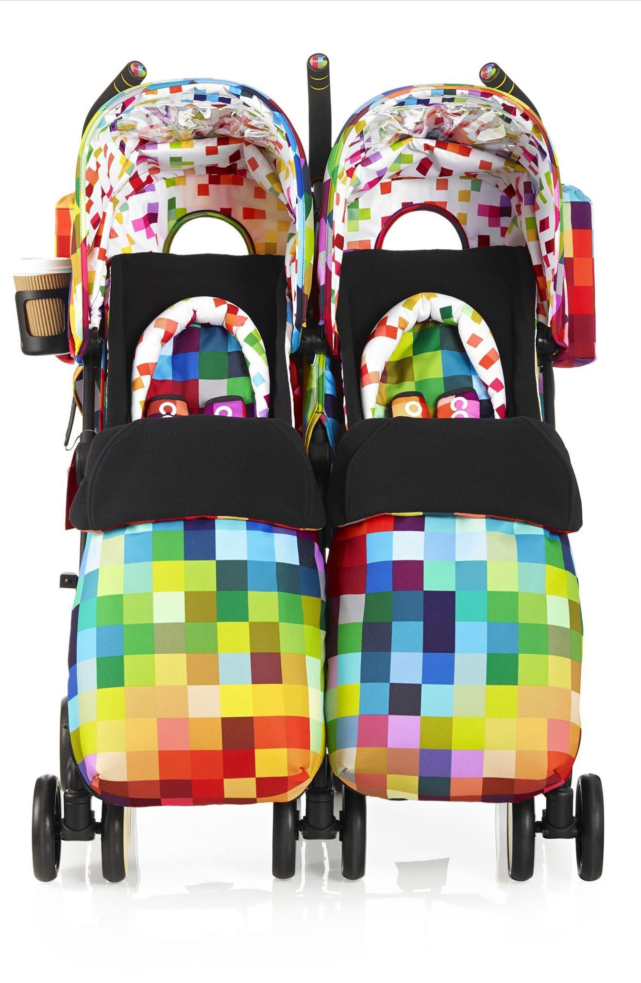 Supa Dupa Pixelate Double Stroller,                             Main thumbnail 1, color,                             001
