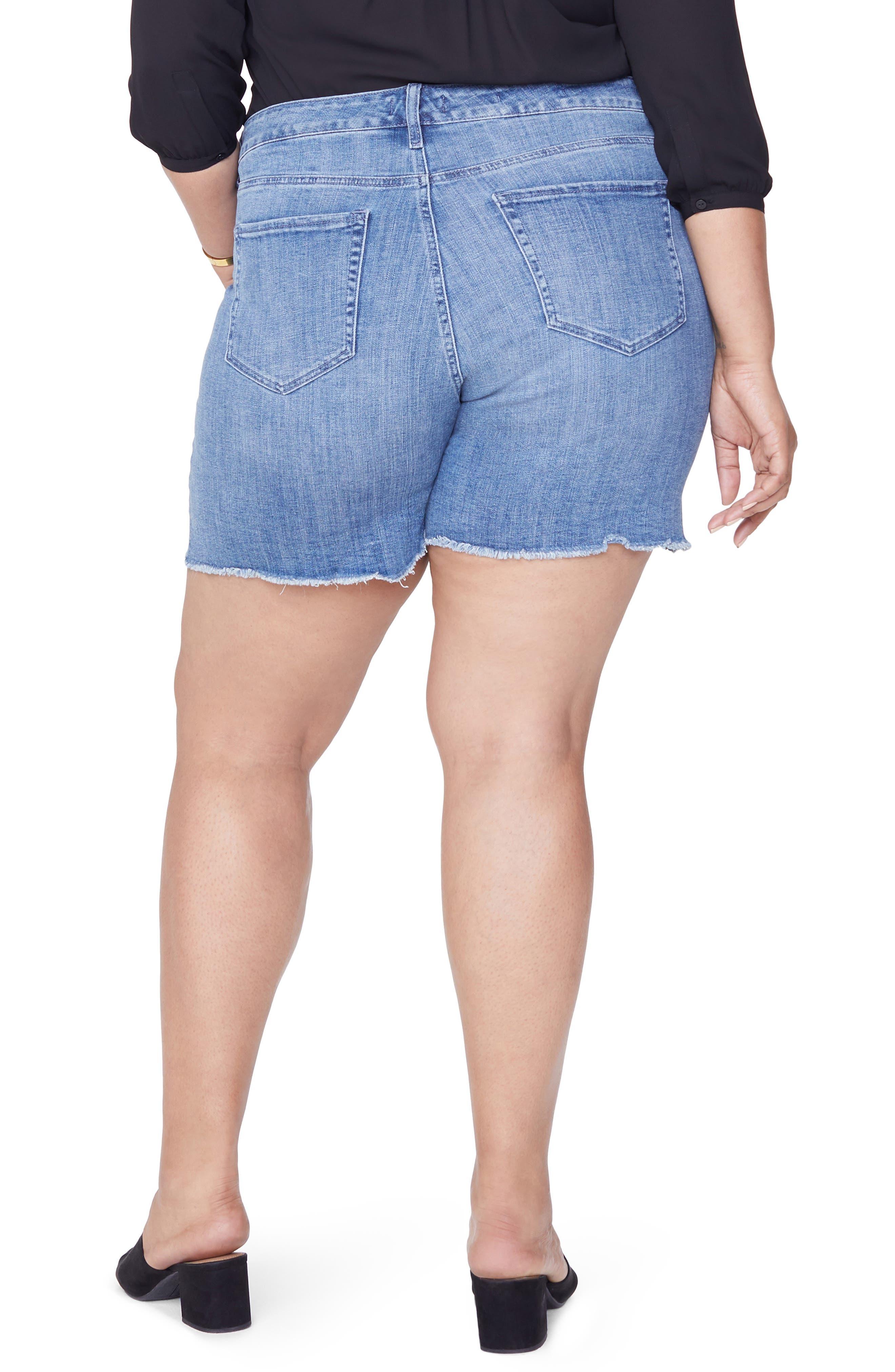 Jenna Frayed Denim Shorts,                             Alternate thumbnail 2, color,                             MAXWELL