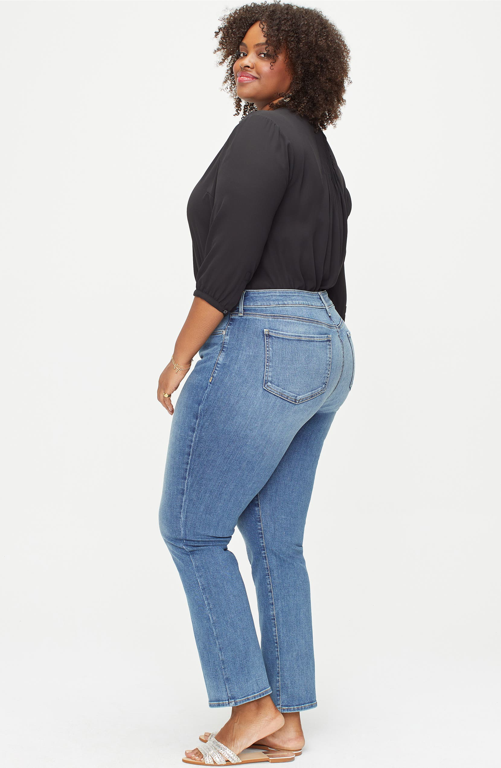 d87a14e3a60 NYDJ Marilyn Straight Leg Jeans (Rhodes) (Plus Size)