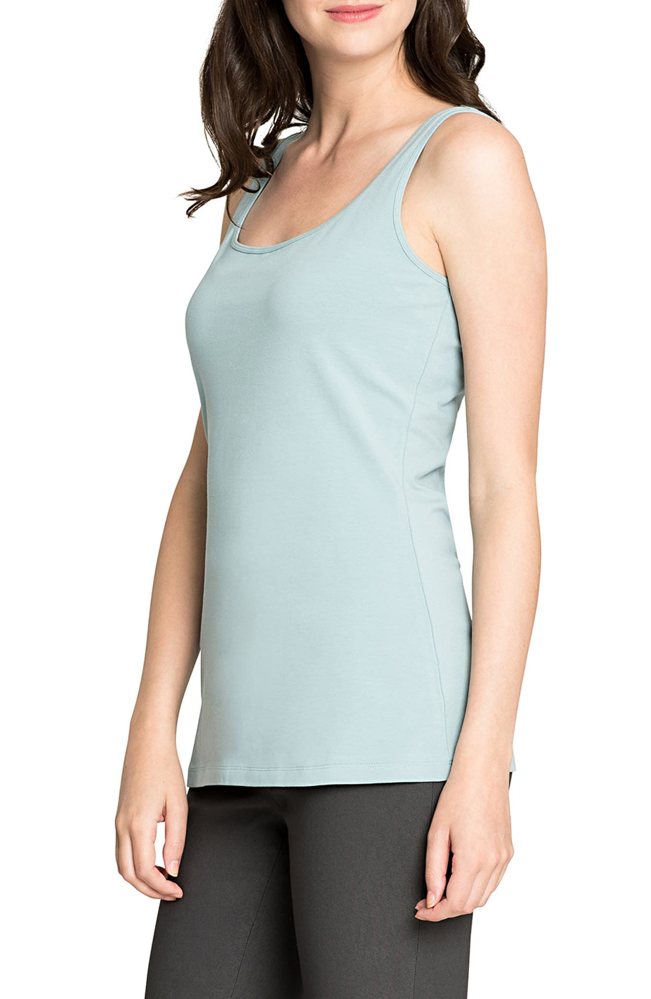 Perfect Scoop Tank,                             Alternate thumbnail 3, color,                             SEAFOAM