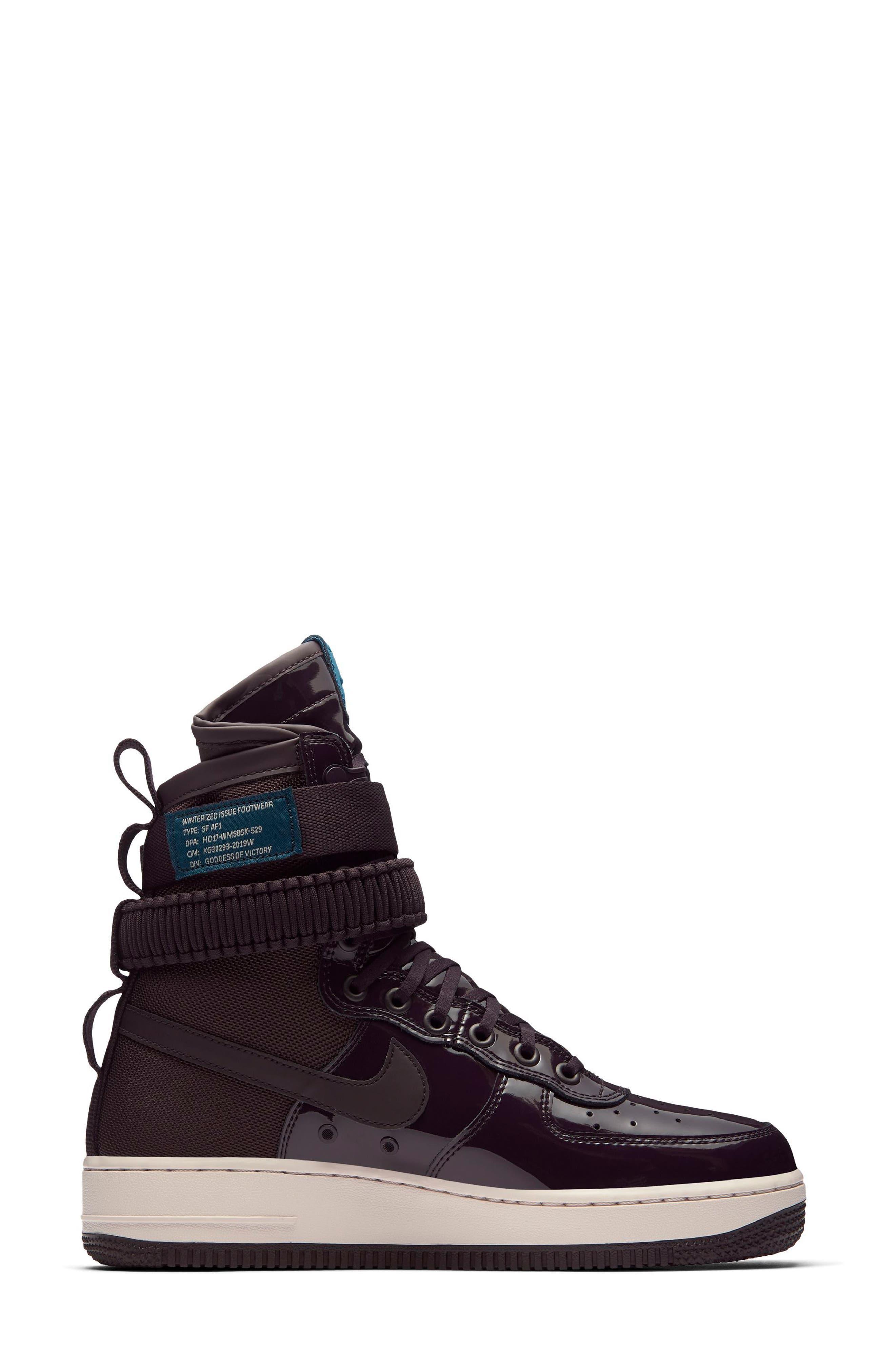 SF Air Force 1 High Top Sneaker,                             Alternate thumbnail 6, color,
