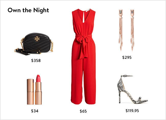 Own the night: women's night-out clothing, accessories, shoes and more.