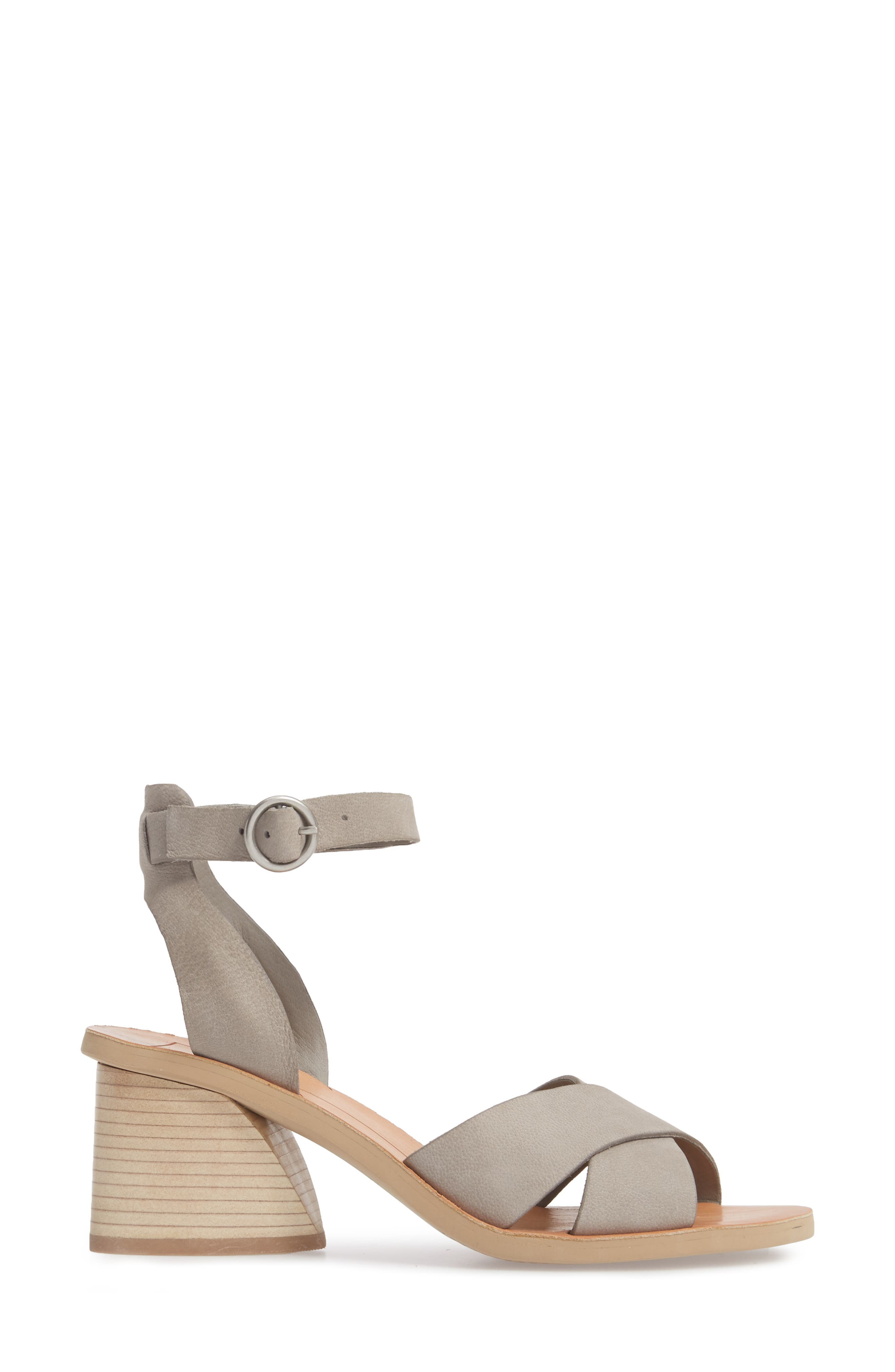 Roman Flared Heel Sandal,                             Alternate thumbnail 3, color,                             020