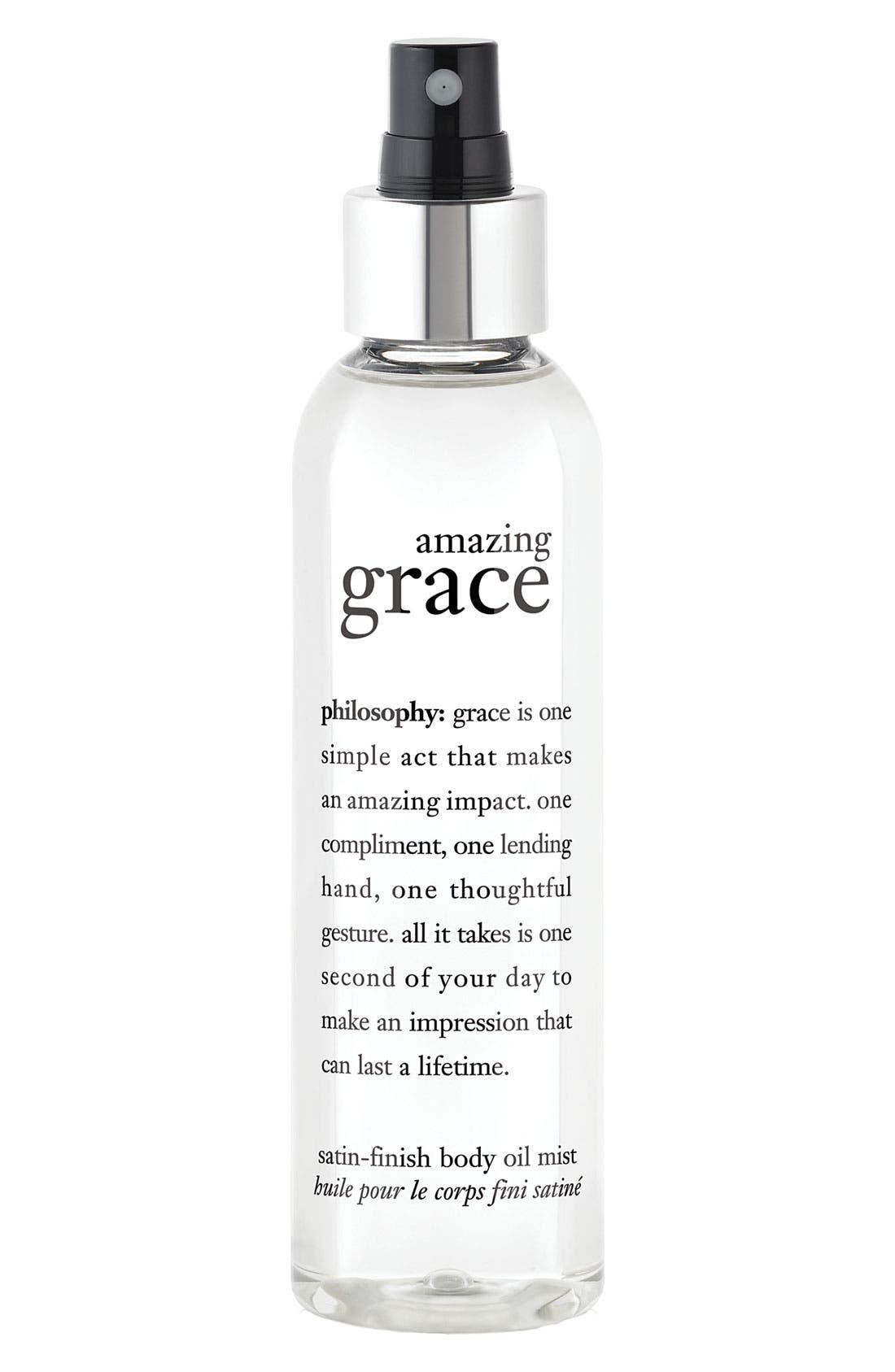 'amazing grace' satin-finish body oil mist,                         Main,                         color, NO COLOR