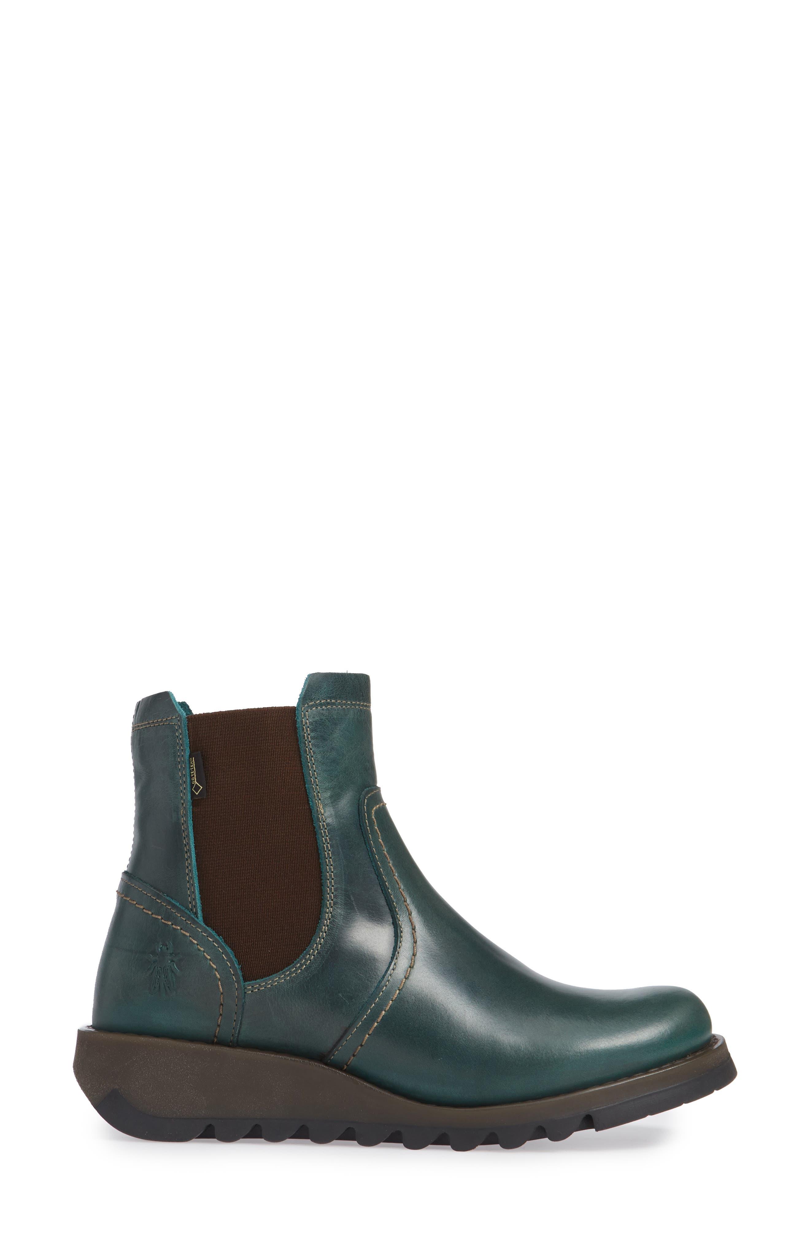 Scon Waterproof Gore-Tex<sup>®</sup> Chelsea Boot,                             Alternate thumbnail 3, color,                             PETROL