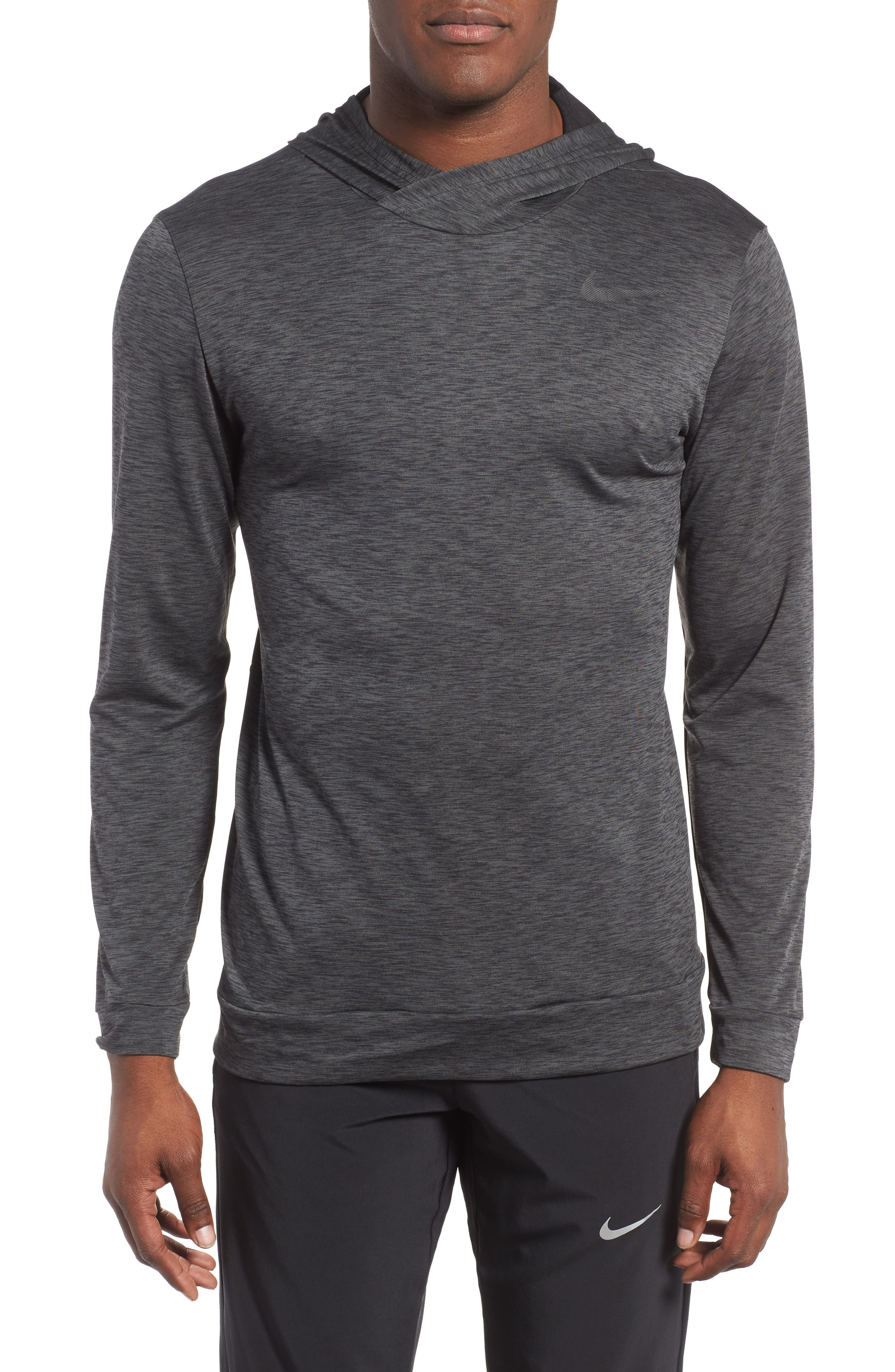 Hyper Dry Regular Fit Training Hoodie,                         Main,                         color, ANTHRACITE/BLACK/BLACK