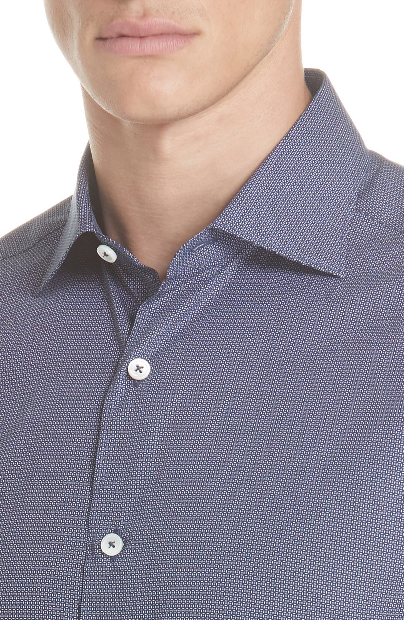 Classic Fit Check Sport Shirt,                             Alternate thumbnail 2, color,                             NAVY