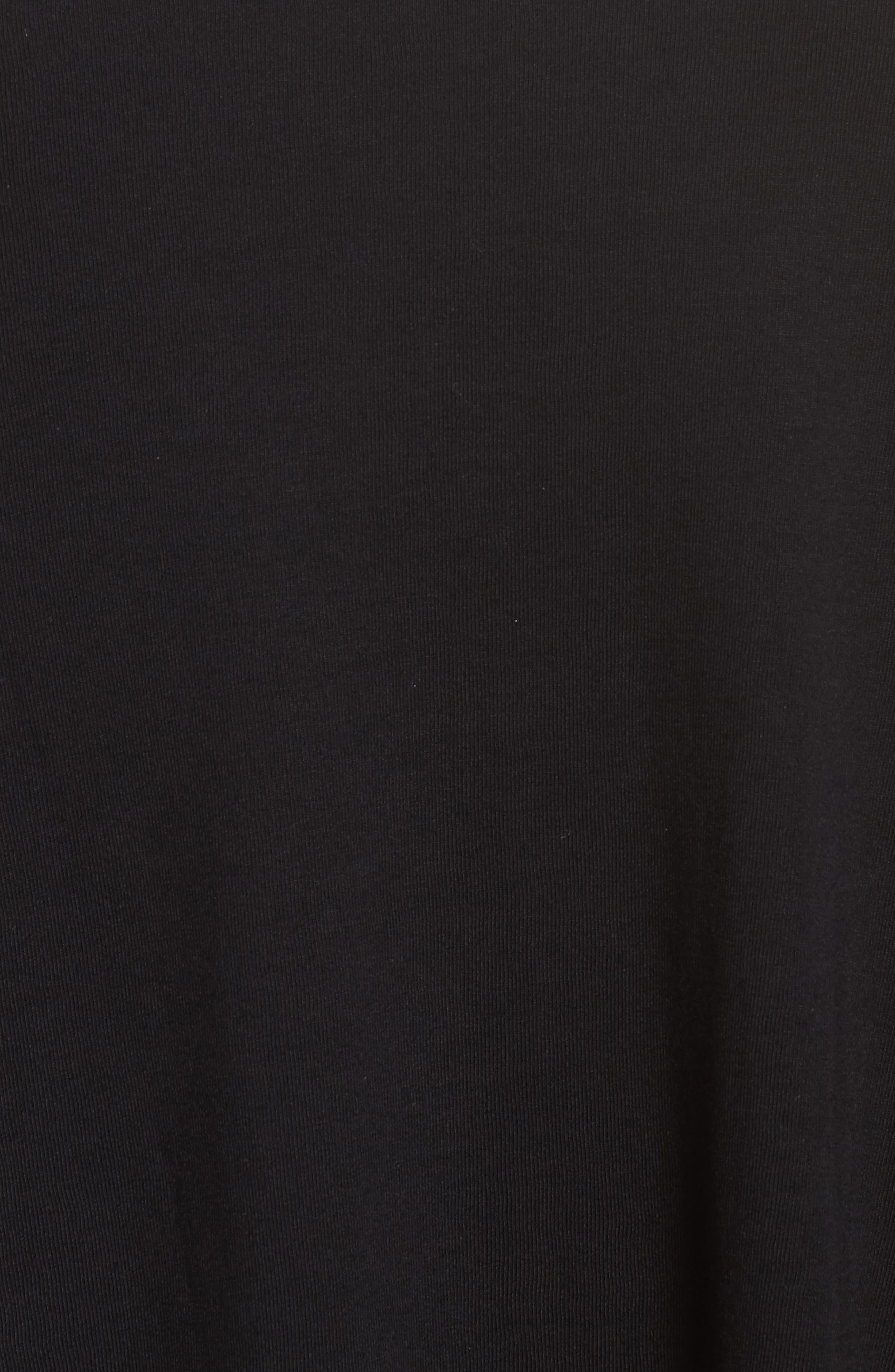 V-Neck Knit Tank,                             Alternate thumbnail 6, color,                             BLACK