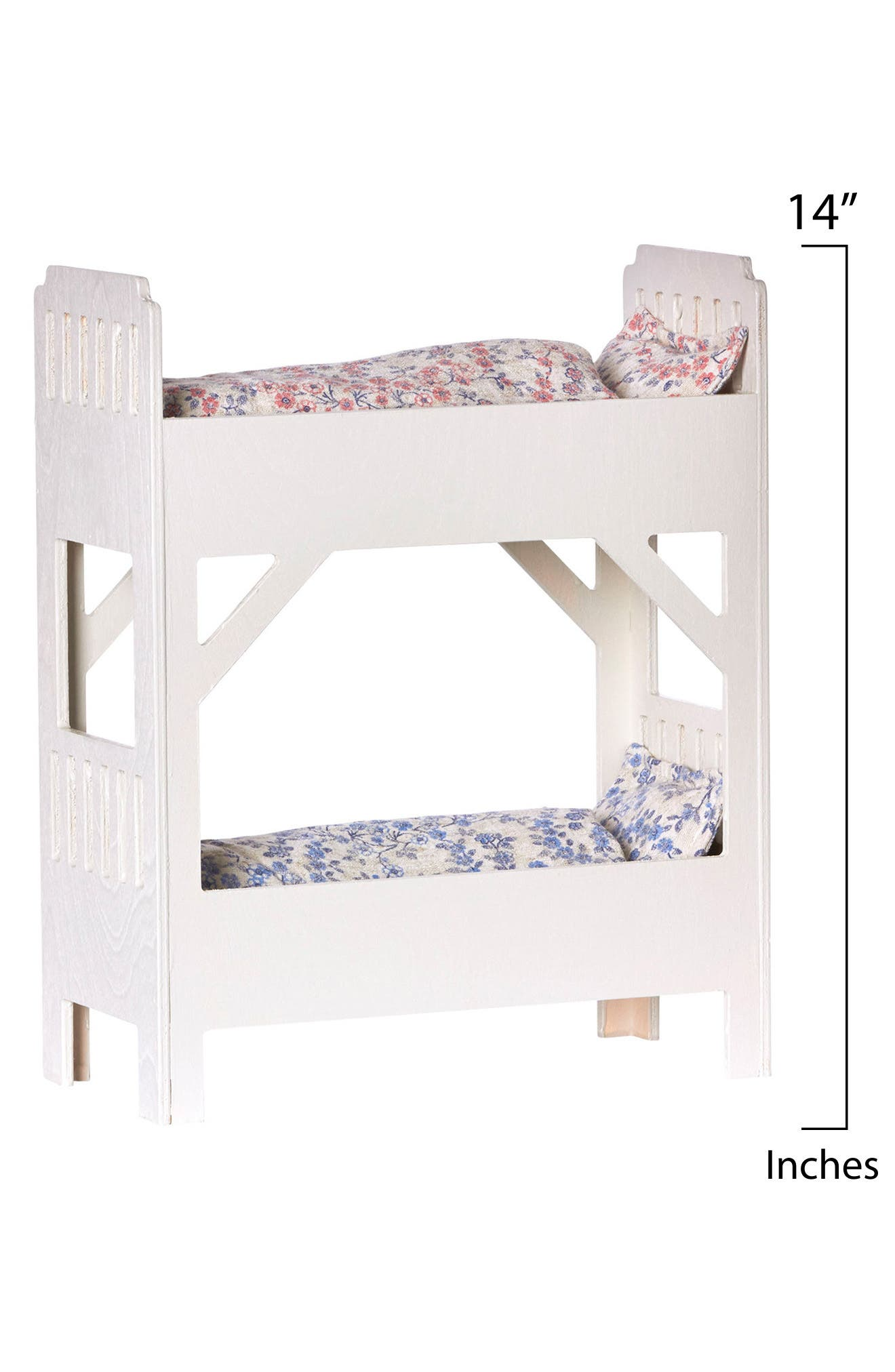 Small Wooden Doll Bunk Bed,                             Alternate thumbnail 2, color,                             WHITE