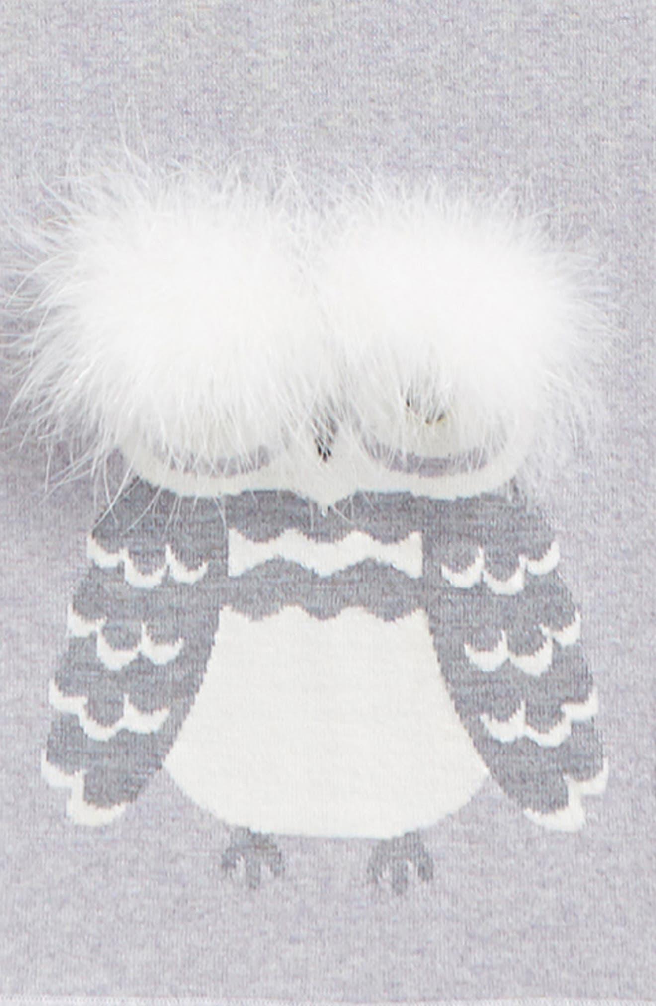 who me owl merino wool muffler,                             Alternate thumbnail 4, color,                             025