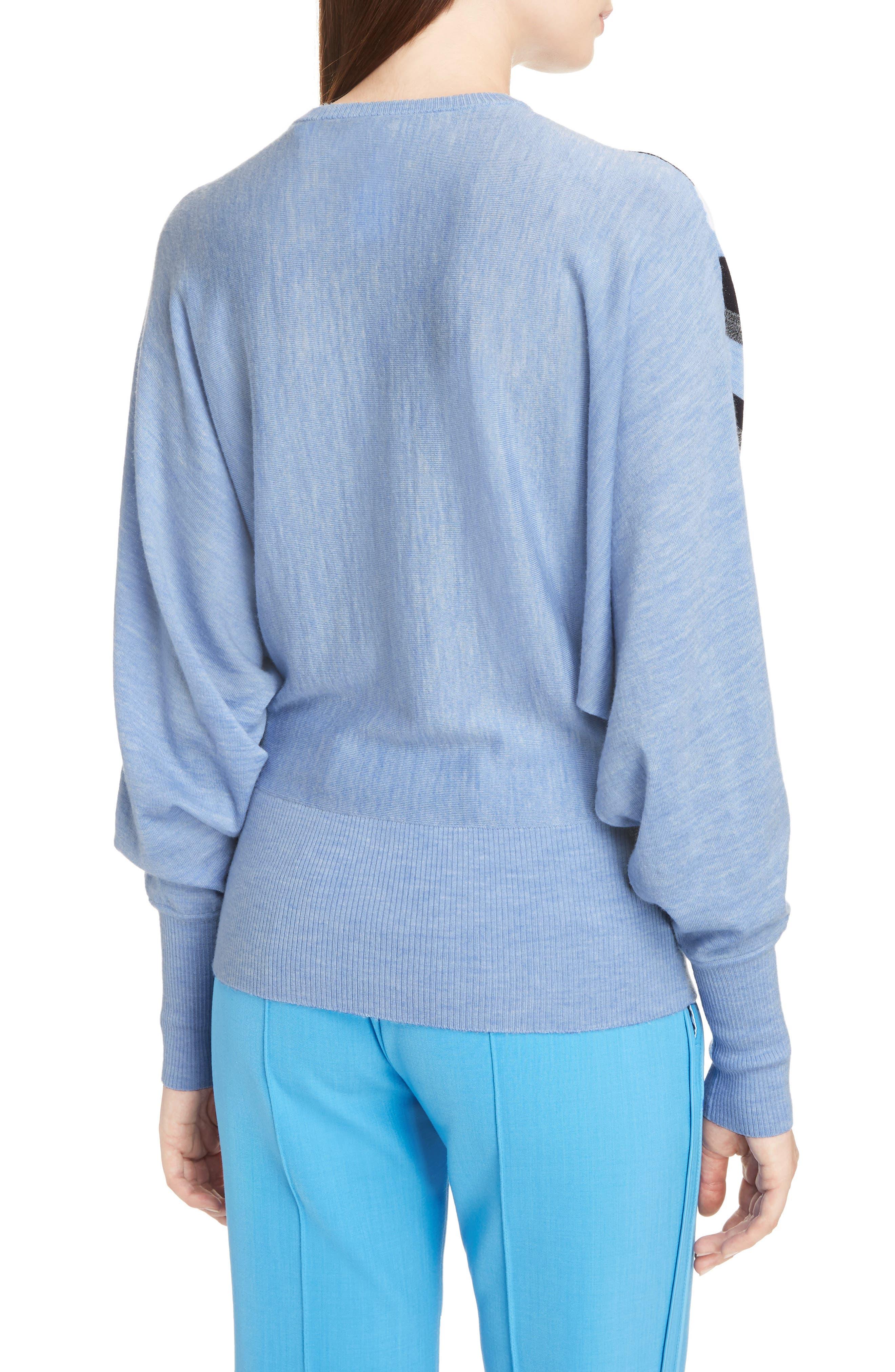 Stripe Wool Dolman Sweater,                             Alternate thumbnail 2, color,                             403