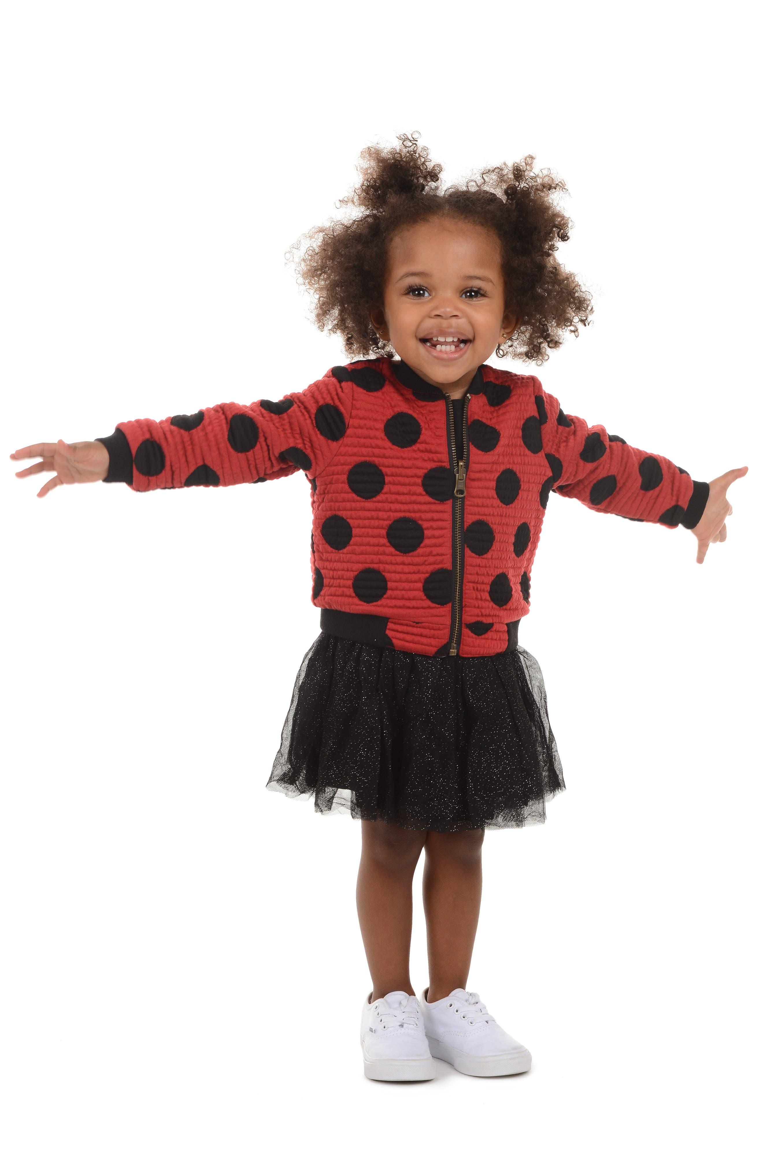 x Disney Minnie Mouse Tutu Dress & Reversible Bomber Jacket Set,                             Alternate thumbnail 5, color,                             619