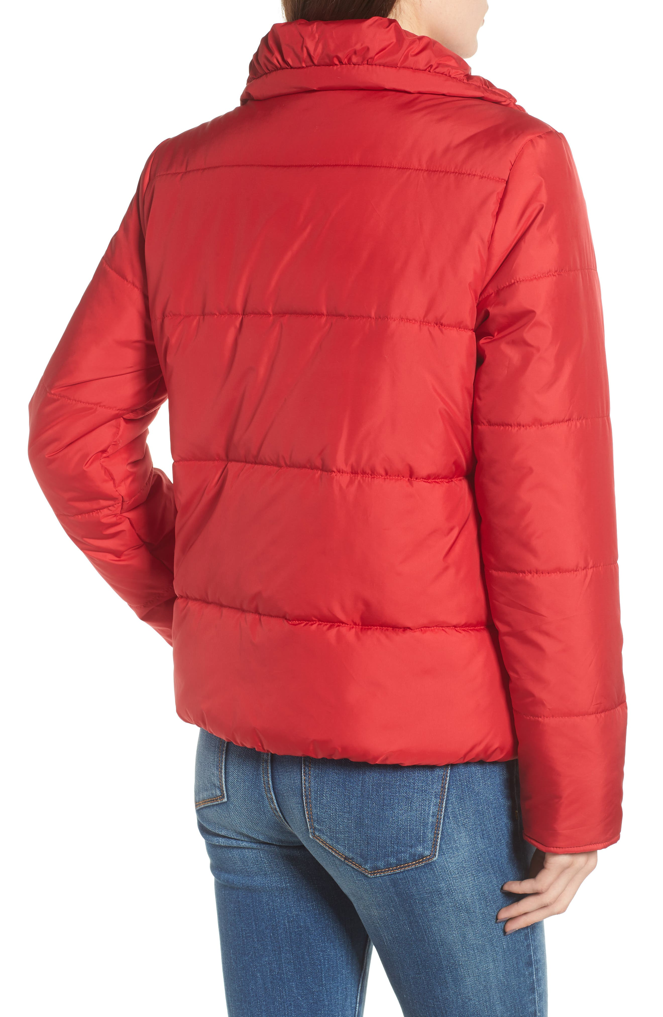Rail Quilted Puffer Jacket,                             Alternate thumbnail 2, color,                             SPICE RED