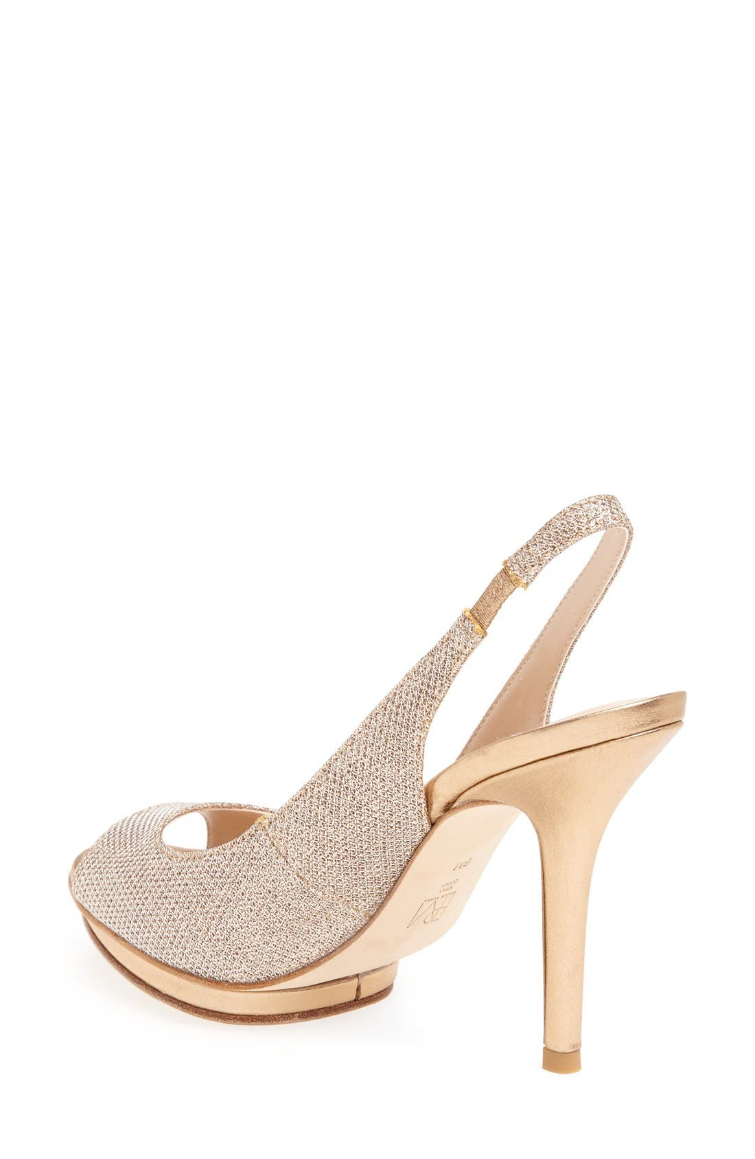 'Rivka' Open Toe Platform Slingback Sandal,                             Alternate thumbnail 8, color,