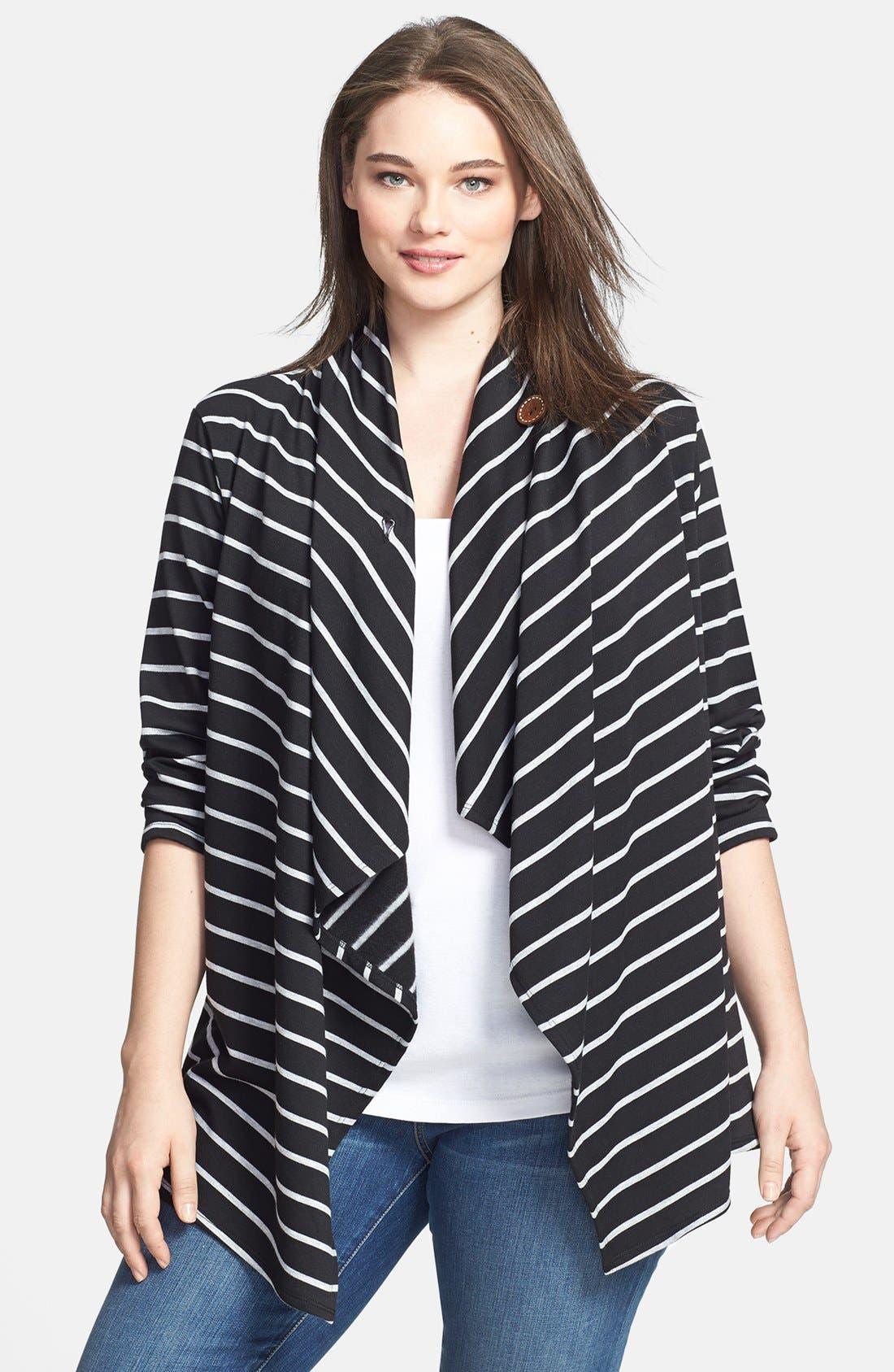 Stripe Fleece Wrap,                         Main,                         color,