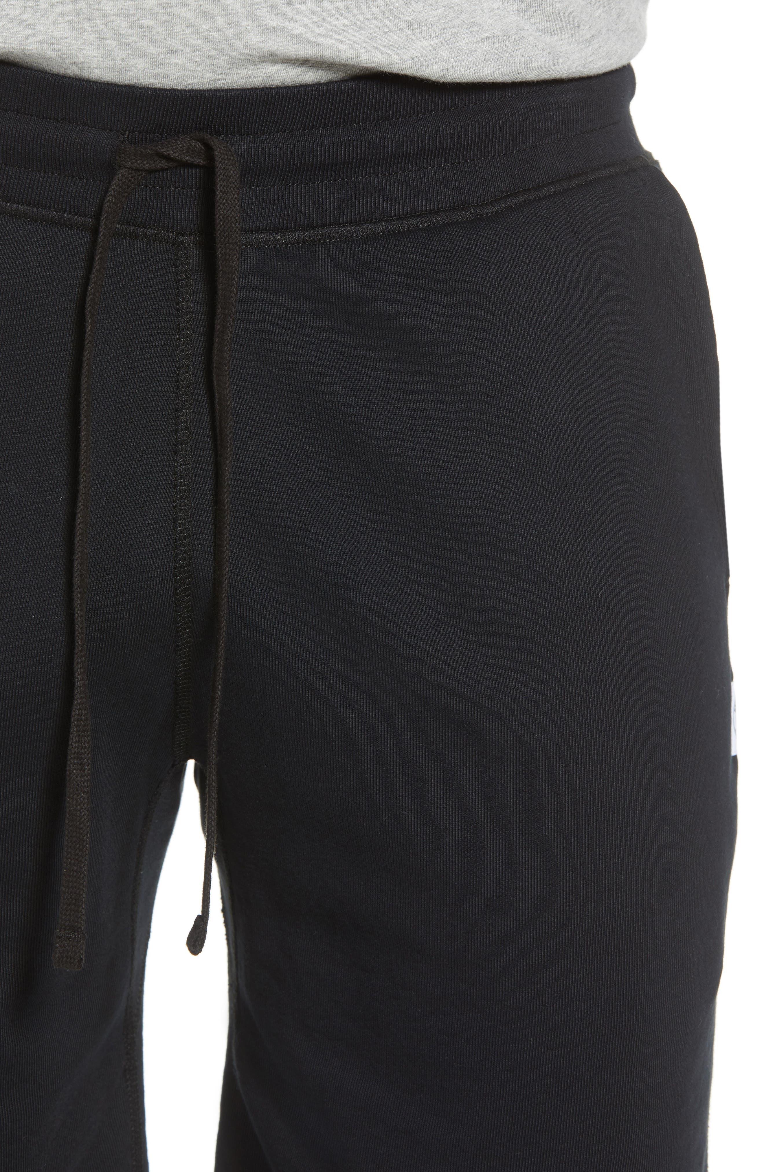 Shorts Lightweight Classic Fit Knit Shorts,                             Alternate thumbnail 4, color,                             BLACK