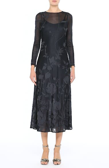 Ivonna Sheer Fil Coupé Midi Dress, video thumbnail
