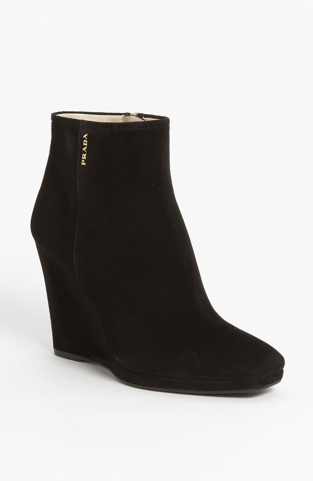 Wedge Ankle Boot,                         Main,                         color, 001