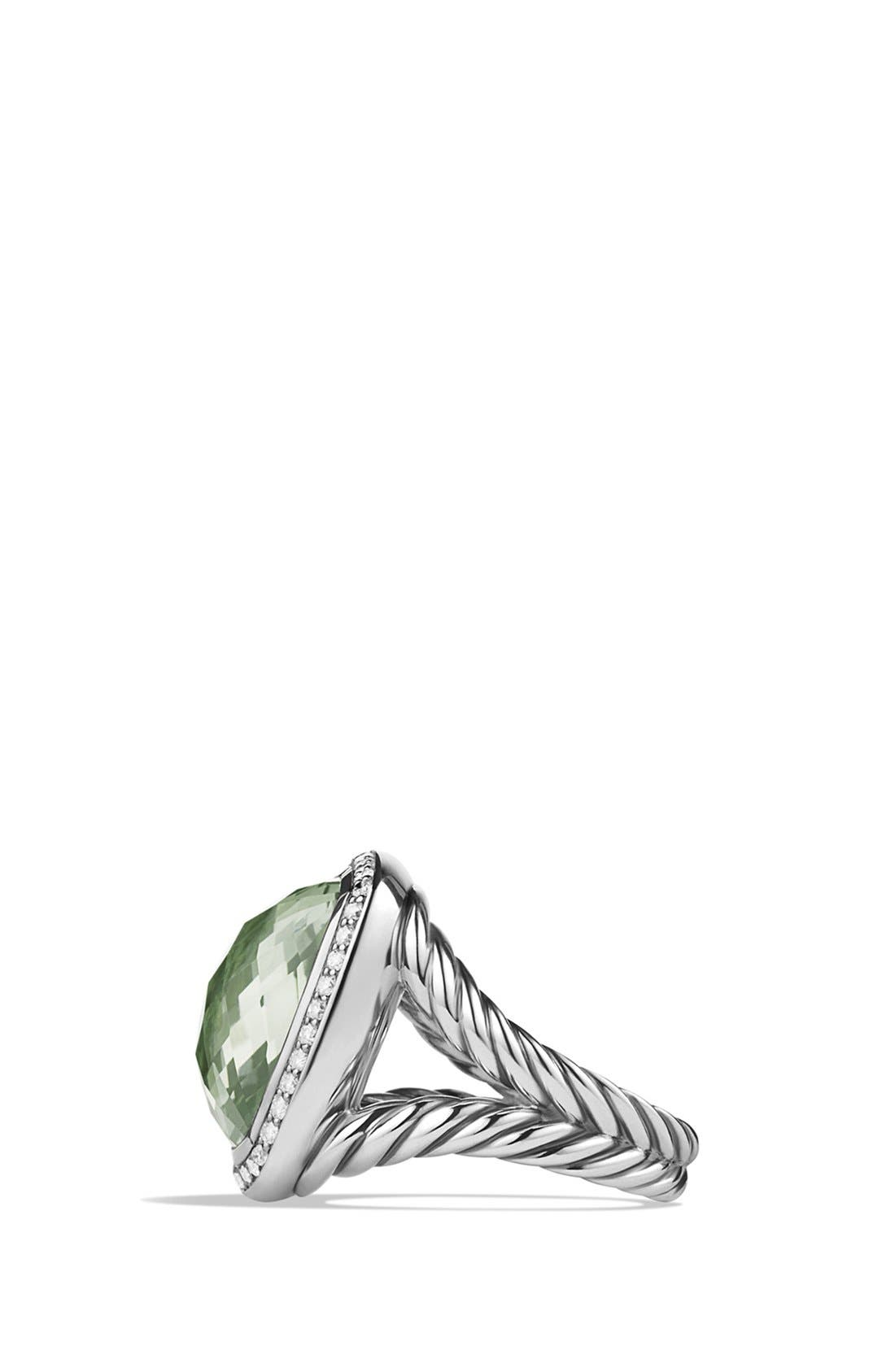 DAVID YURMAN,                             'Albion' Ring with Diamonds,                             Alternate thumbnail 4, color,                             PRASIOLITE