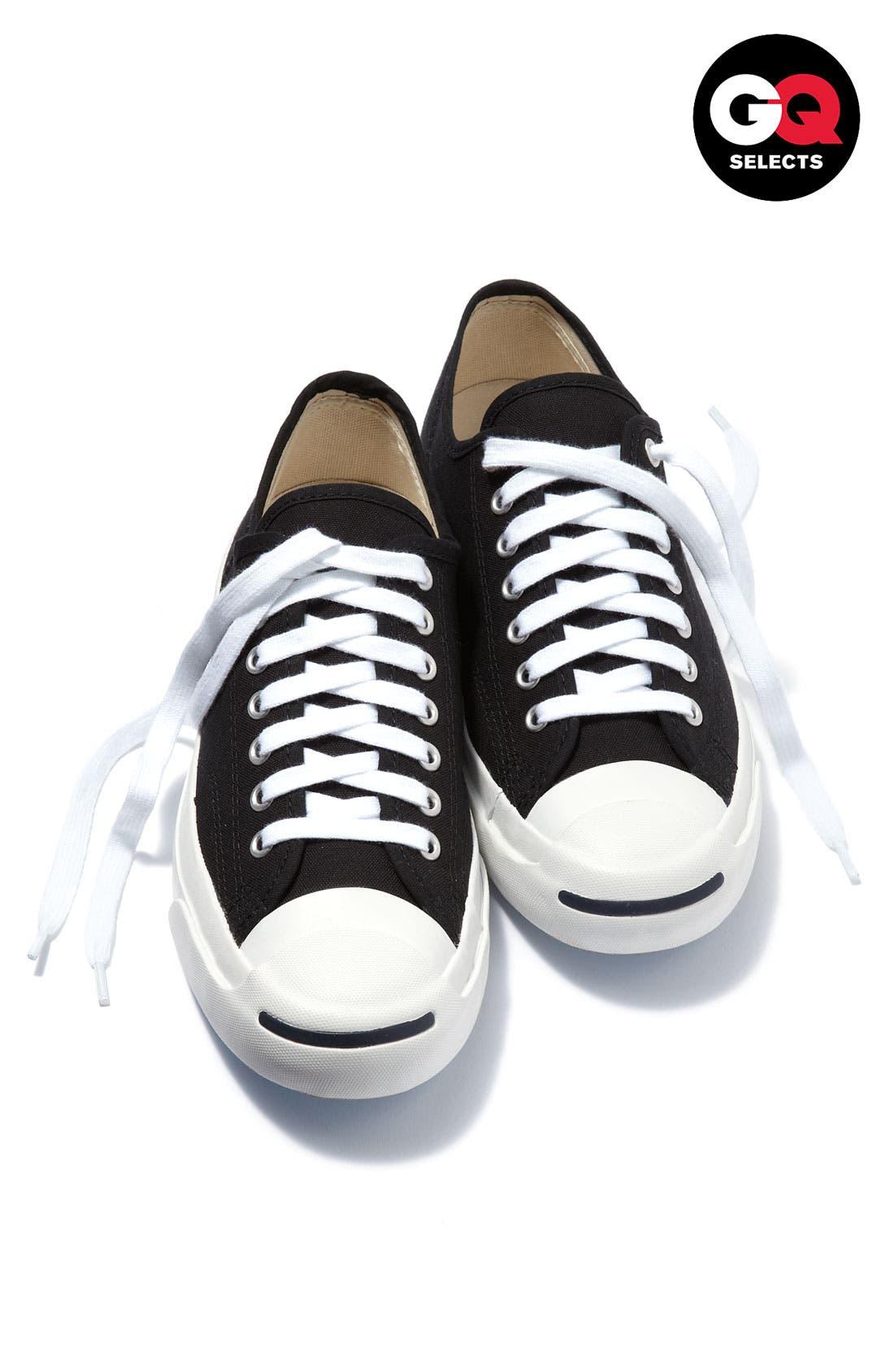 CONVERSE,                             'Jack Purcell' Sneaker,                             Alternate thumbnail 6, color,                             BLACK