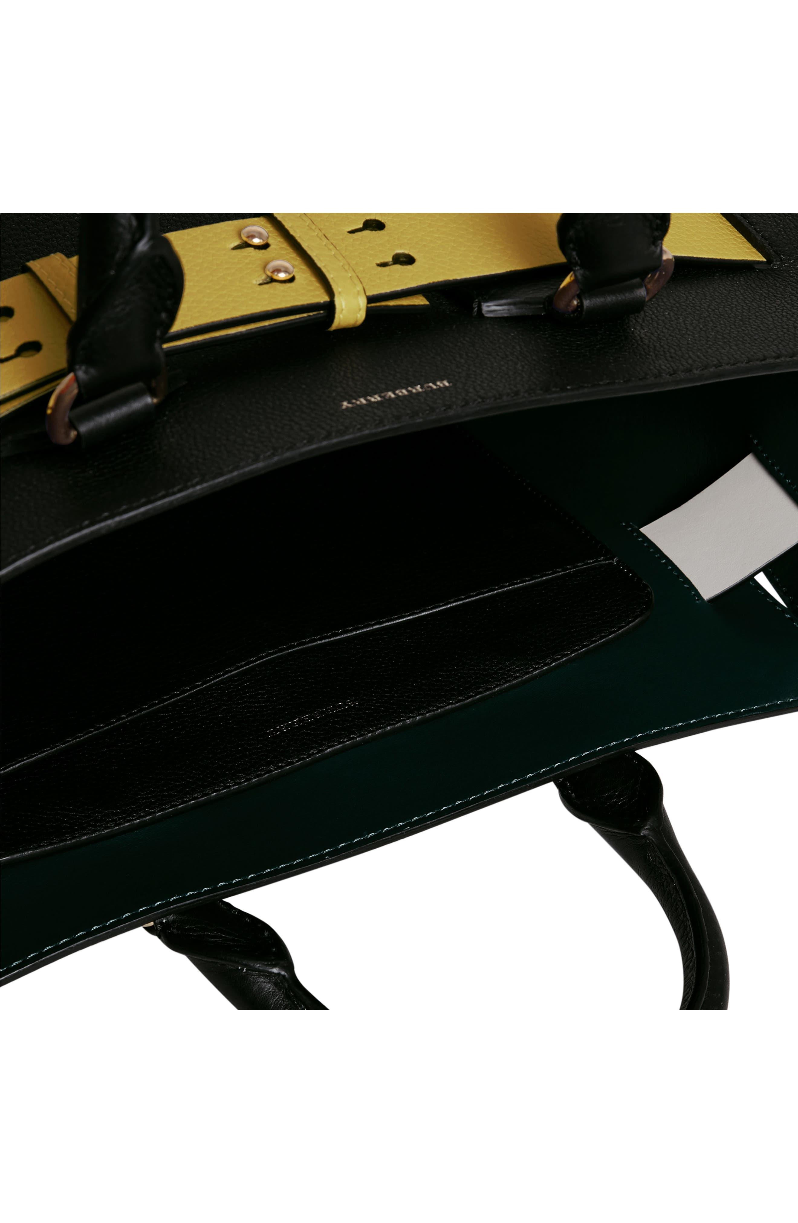 Medium Belt Bag Leather Tote,                             Alternate thumbnail 10, color,                             001