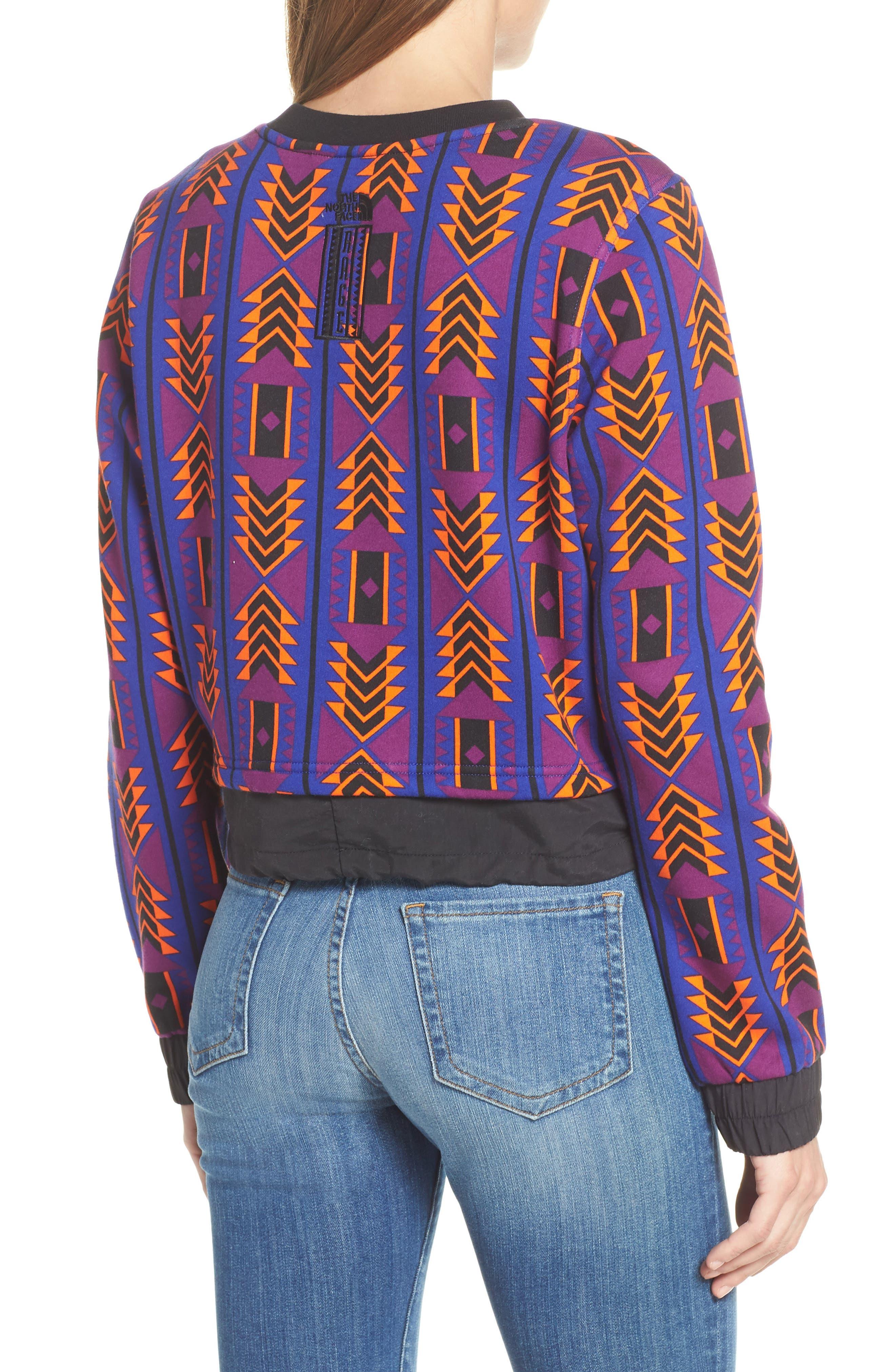 92 Rage Crop Fleece Sweatshirt,                             Alternate thumbnail 2, color,                             AZTEC BLUE 1992 RAGE PRINT