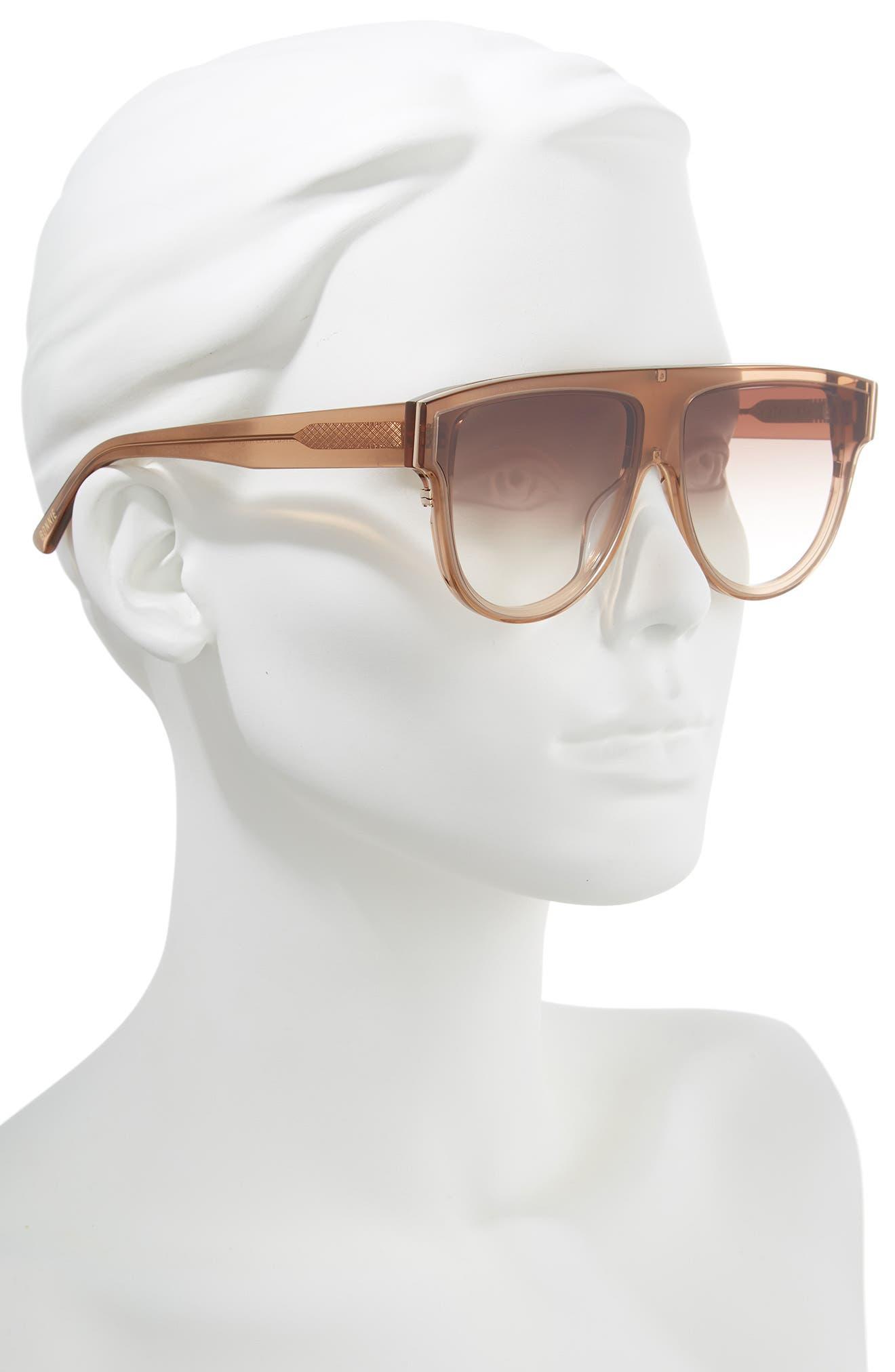 Continuum 63mm Oversize Flat Top Sunglasses,                             Alternate thumbnail 2, color,                             AMBER GRADIENT