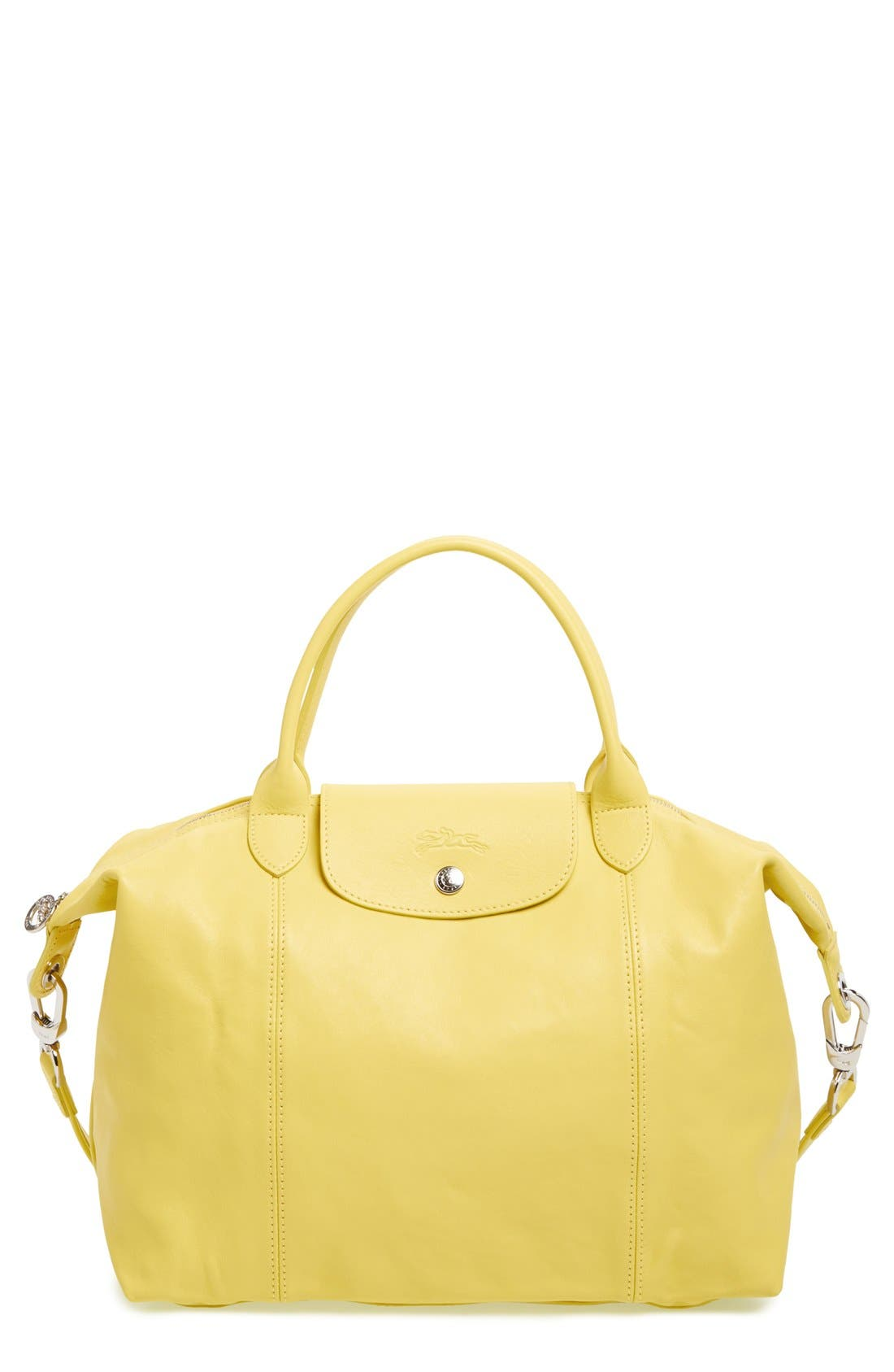 Medium 'Le Pliage Cuir' Leather Top Handle Tote,                             Main thumbnail 35, color,