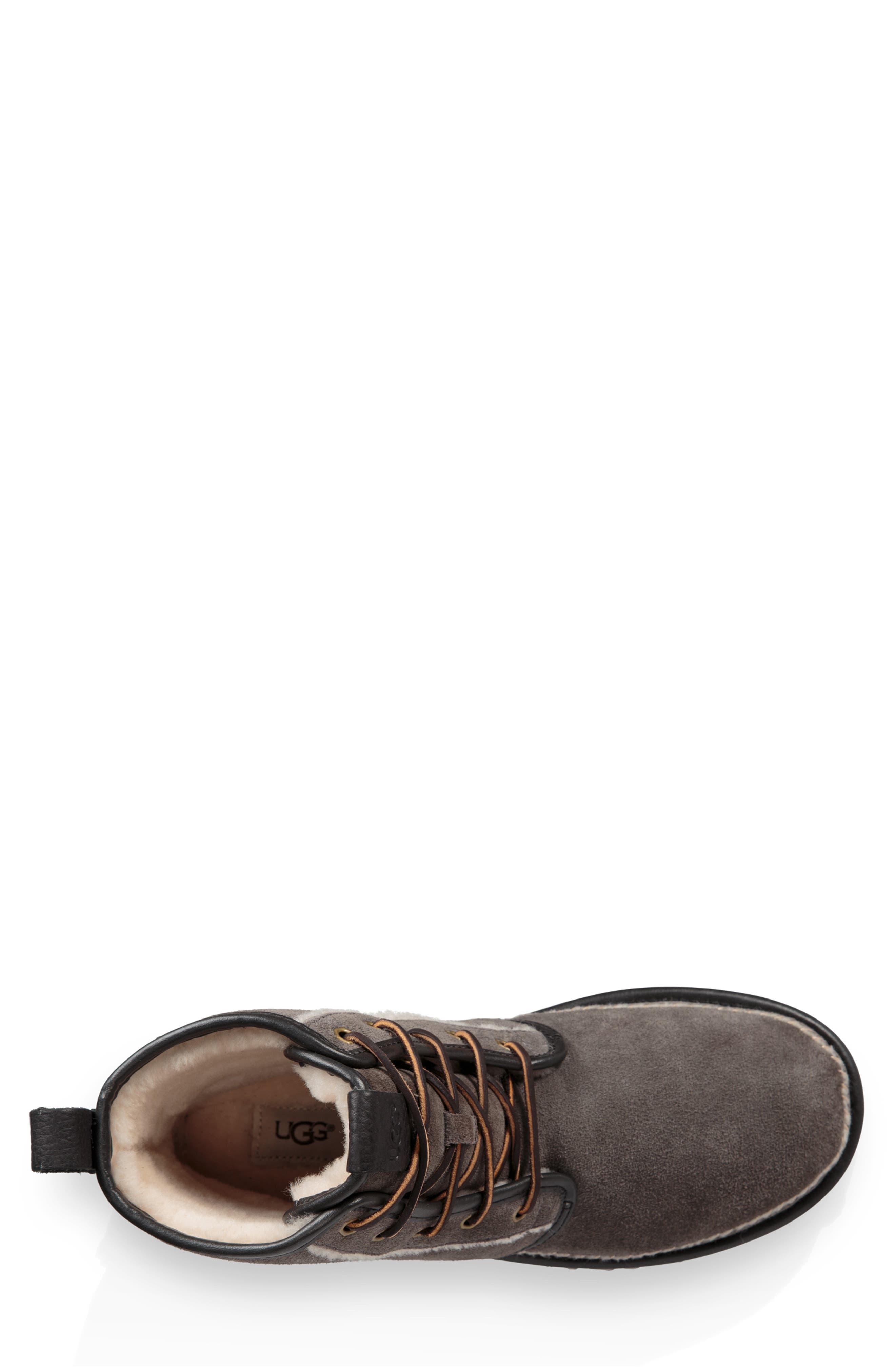 Harkley Stitch Plain Toe Boot,                             Alternate thumbnail 4, color,                             DARK GREY