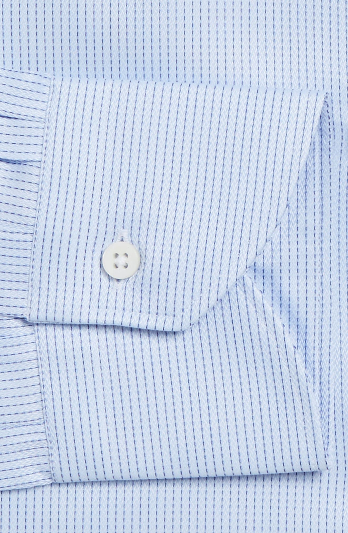 Regular Fit Stripe Dress Shirt,                             Alternate thumbnail 3, color,