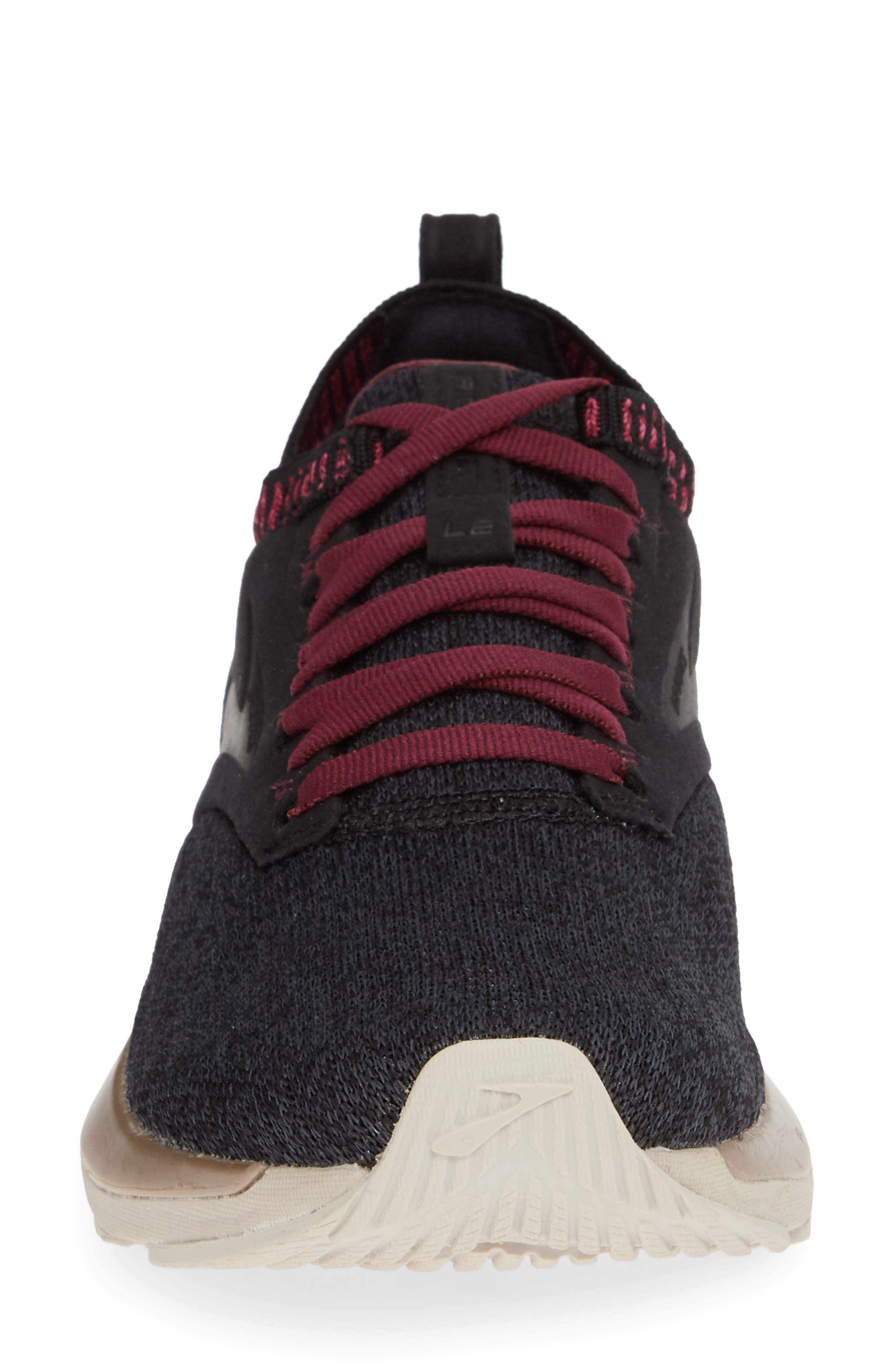 Ricochet LE Running Shoe,                             Alternate thumbnail 4, color,                             BLACK/ GREY/ PINK