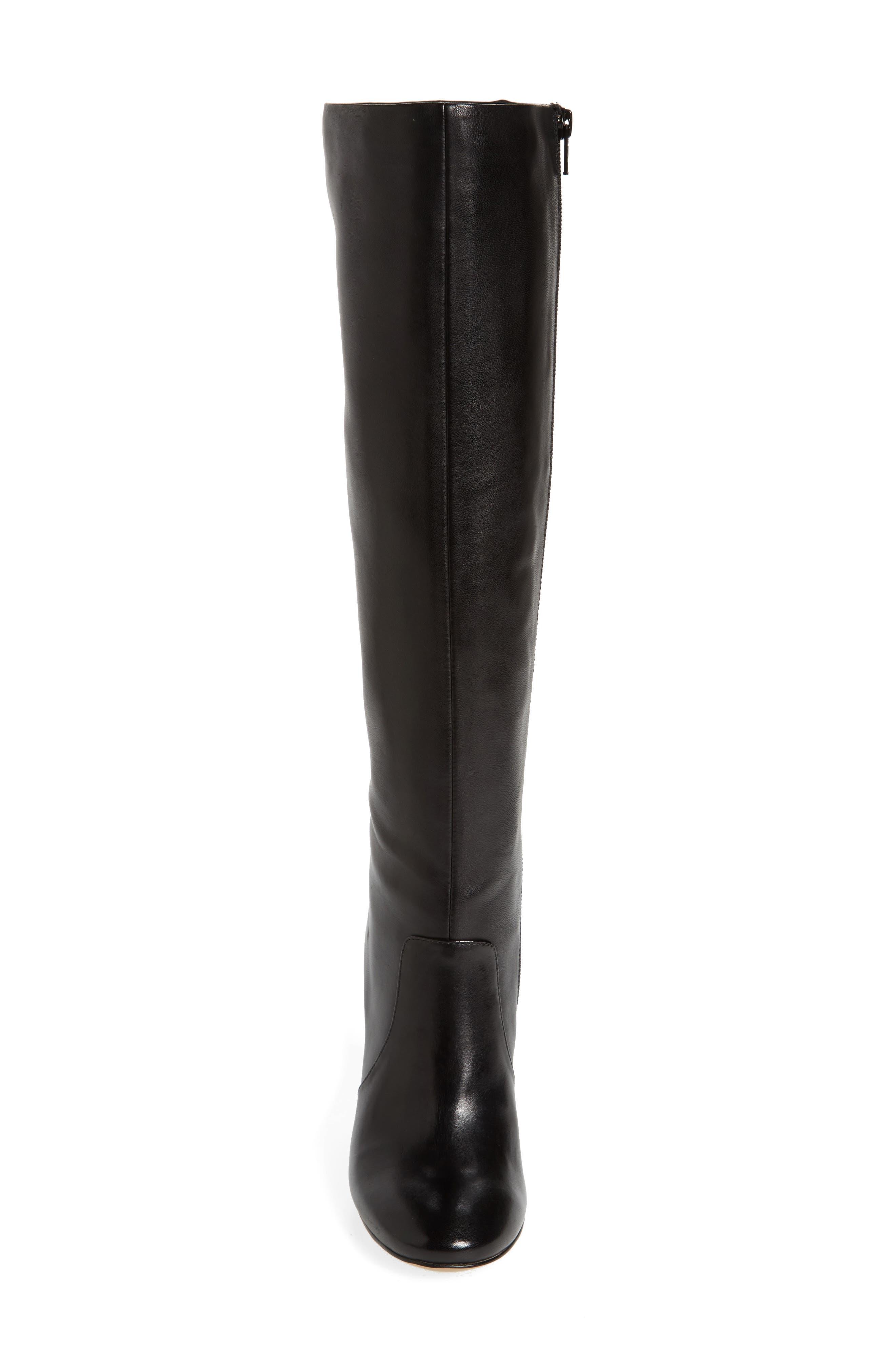 Roslin Knee High Boot,                             Alternate thumbnail 4, color,                             001