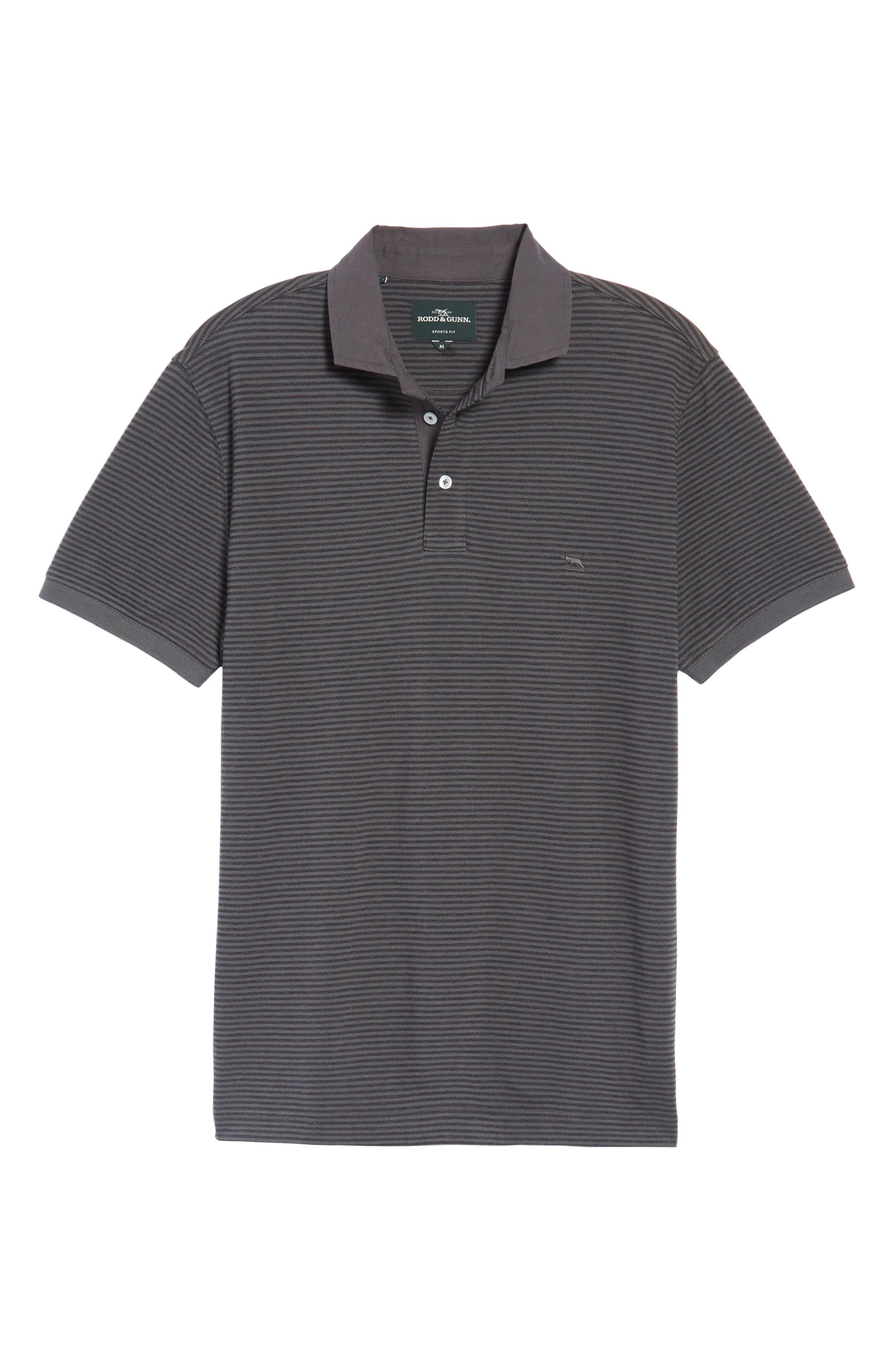 Lendenfield Sports Fit Stripe Piqué Polo,                             Alternate thumbnail 6, color,                             023