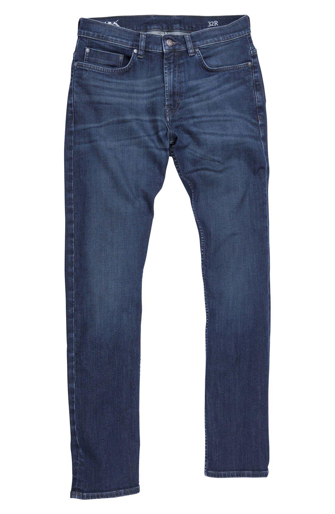 'Nicholls' Regular Fit Straight Leg Jeans,                             Alternate thumbnail 3, color,                             DENIM
