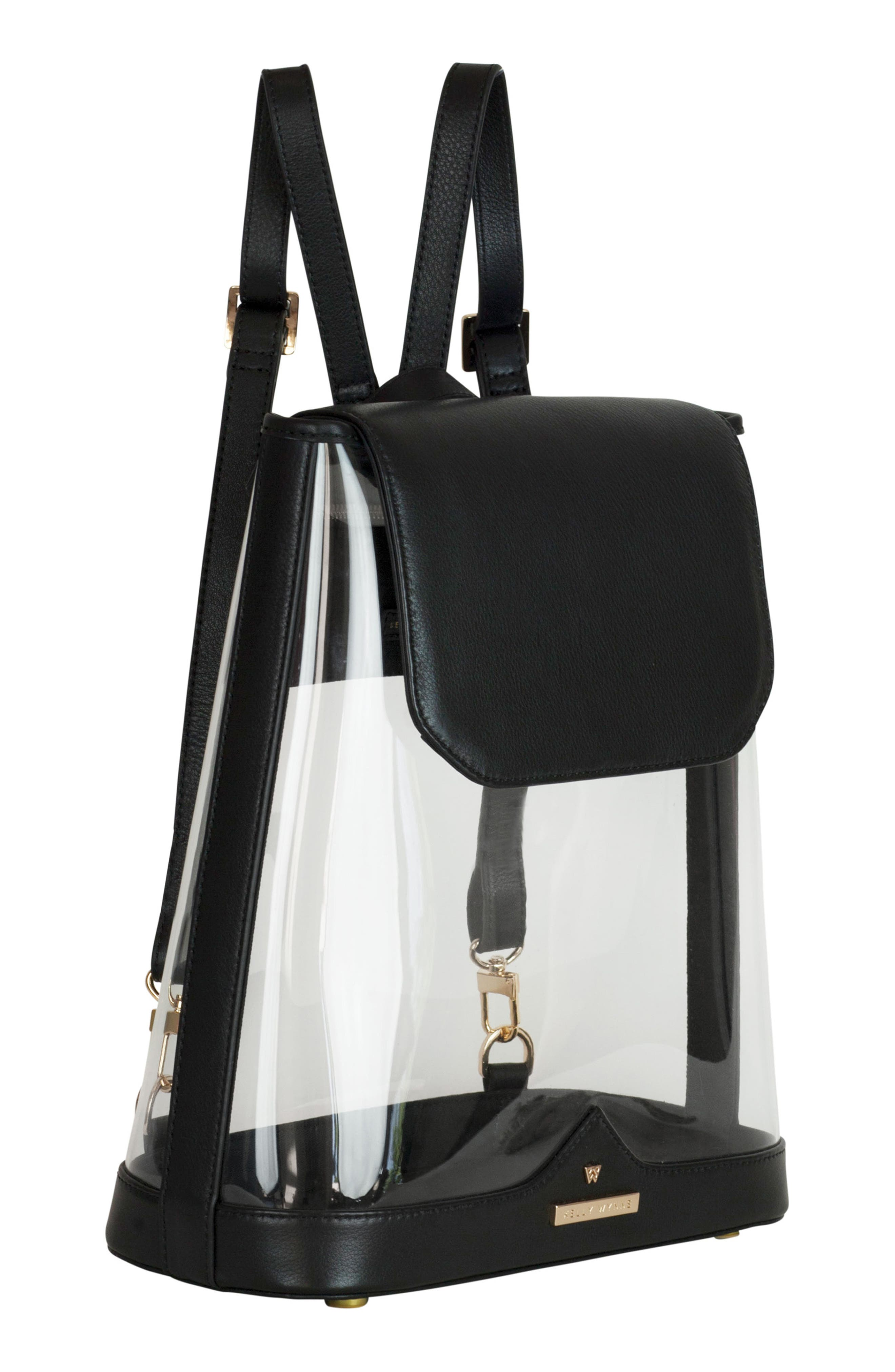 KELLY WYNNE,                             Clear BYOBackpack,                             Alternate thumbnail 5, color,                             BLACK