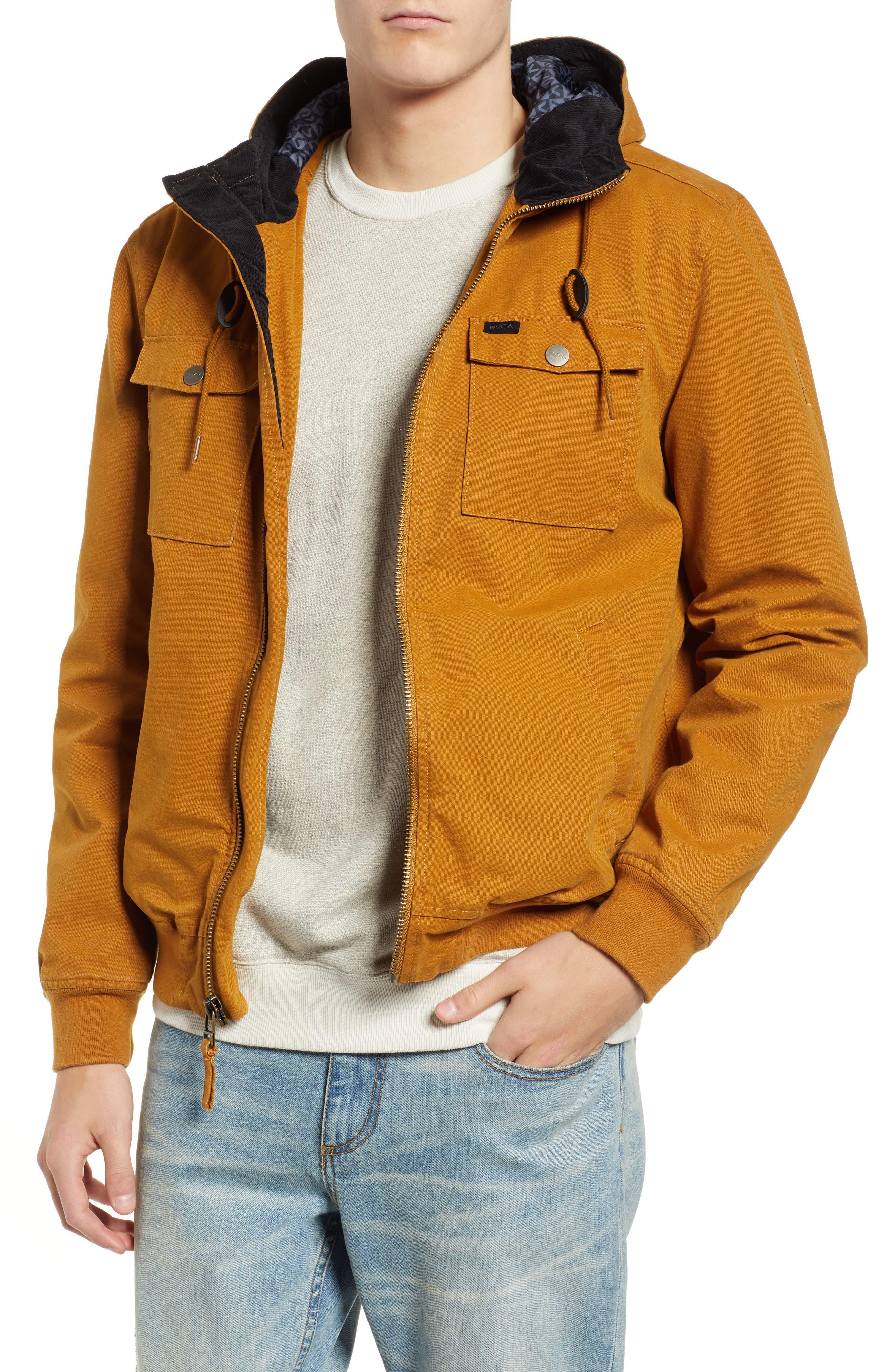 Hooded Bomber Jacket,                         Main,                         color, BRONZE