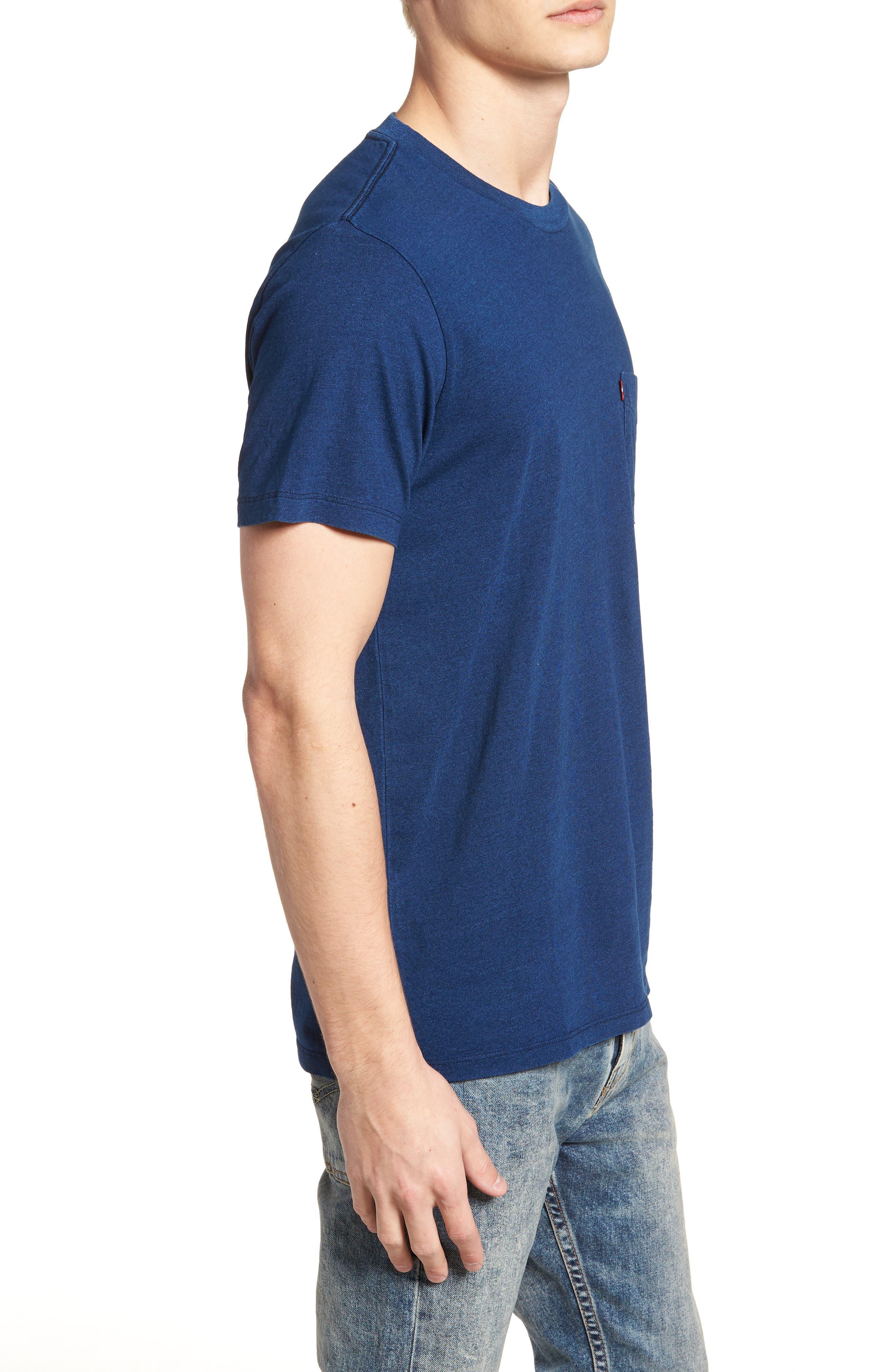 Pocket T-Shirt,                             Alternate thumbnail 3, color,                             MEDIUM INDIGO XX