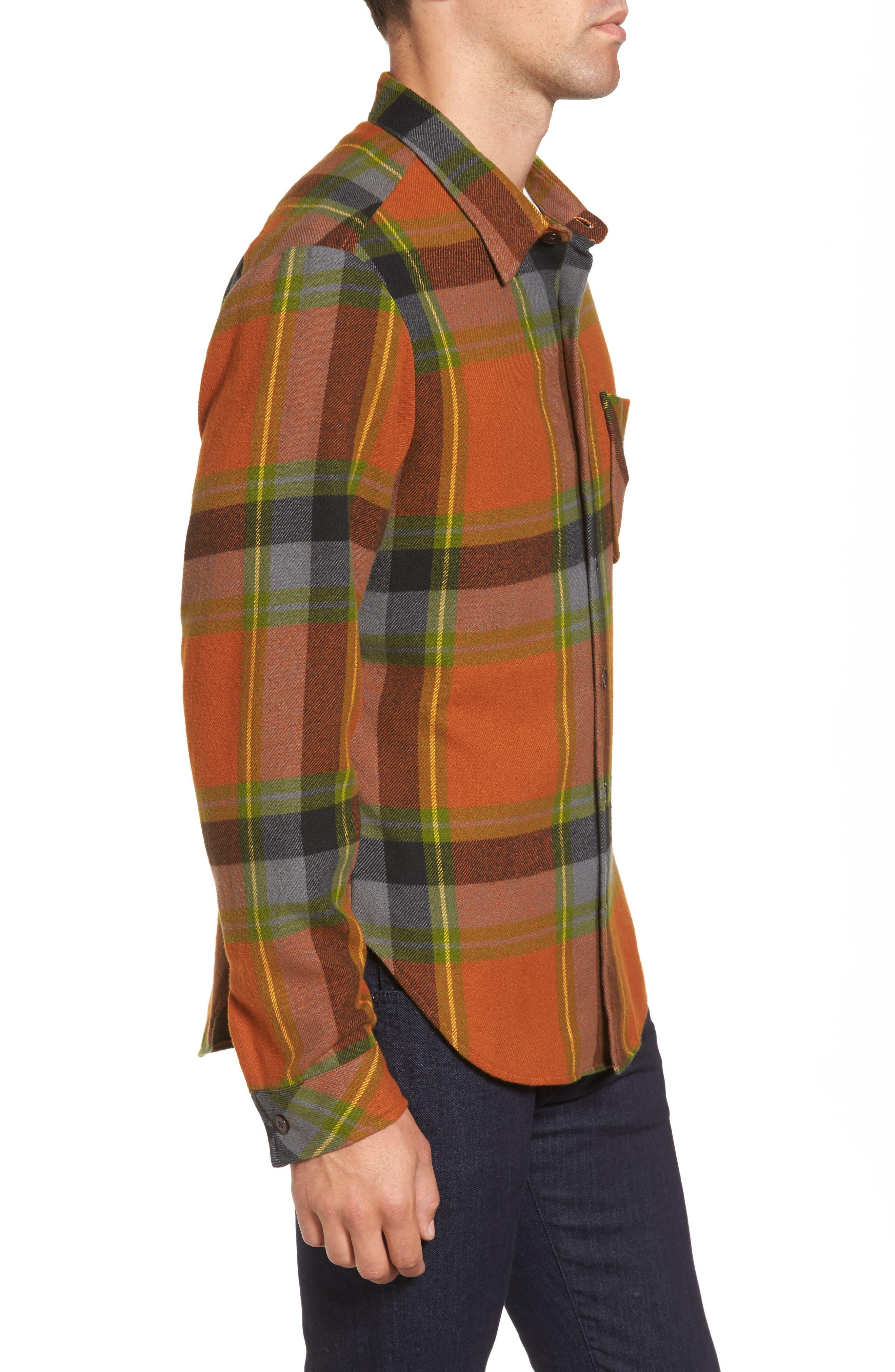 Denim Regular Fit Check Sport Shirt,                             Alternate thumbnail 3, color,                             840