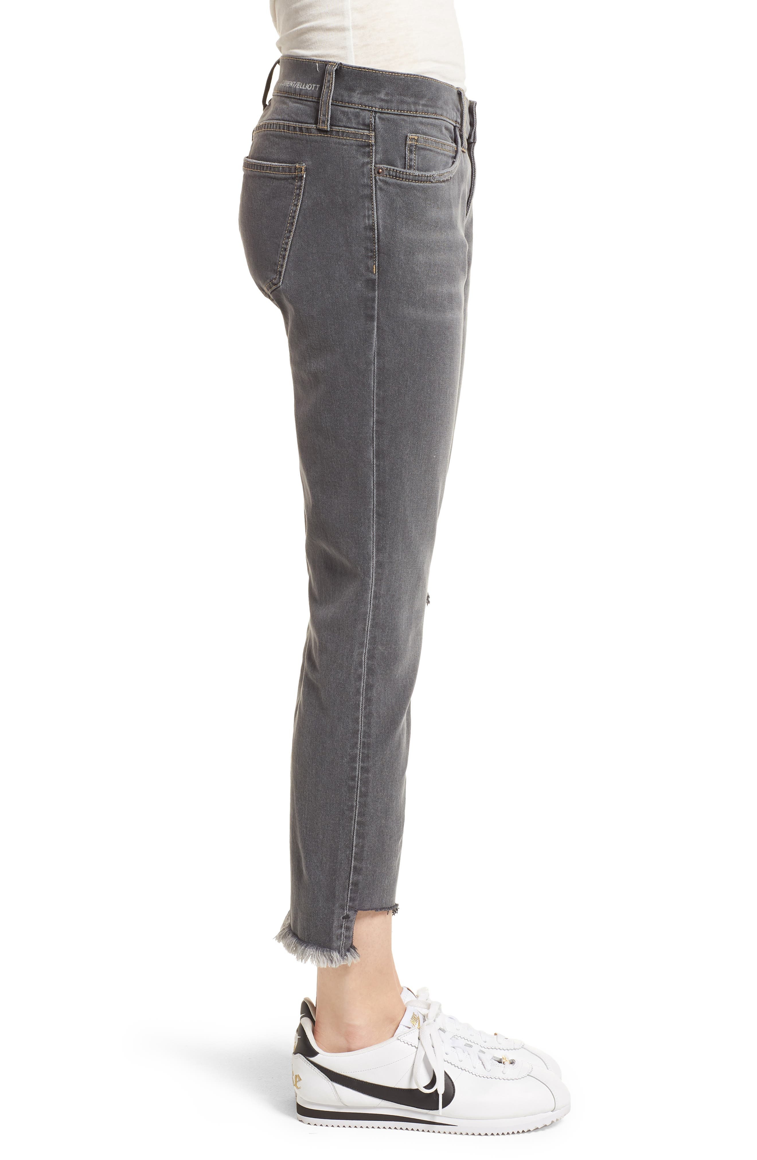 The Cropped Straight Leg Jeans,                             Alternate thumbnail 3, color,                             080